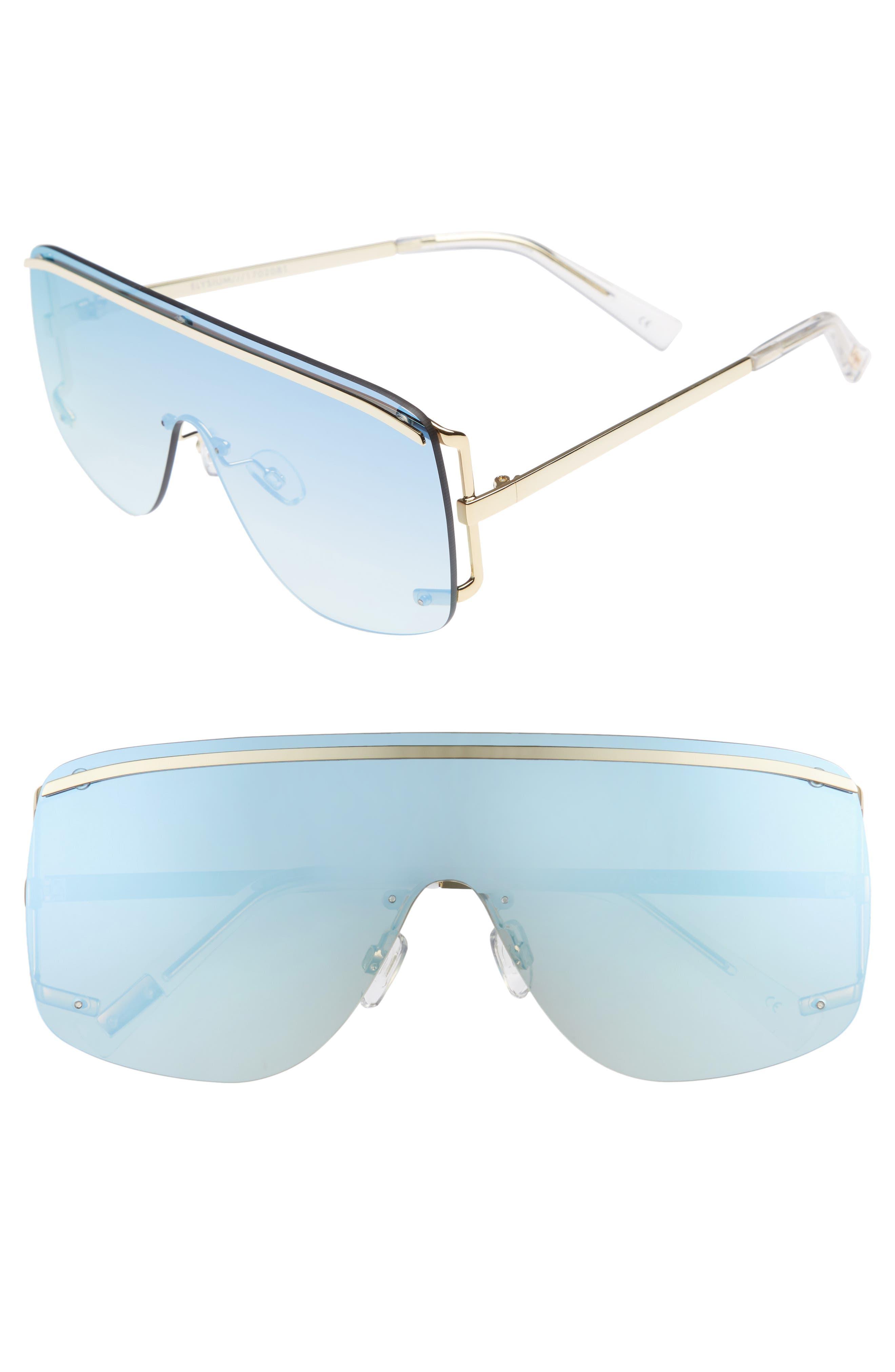 Elysium 140mm Shield Sunglasses,                             Main thumbnail 1, color,                             Bright Gold