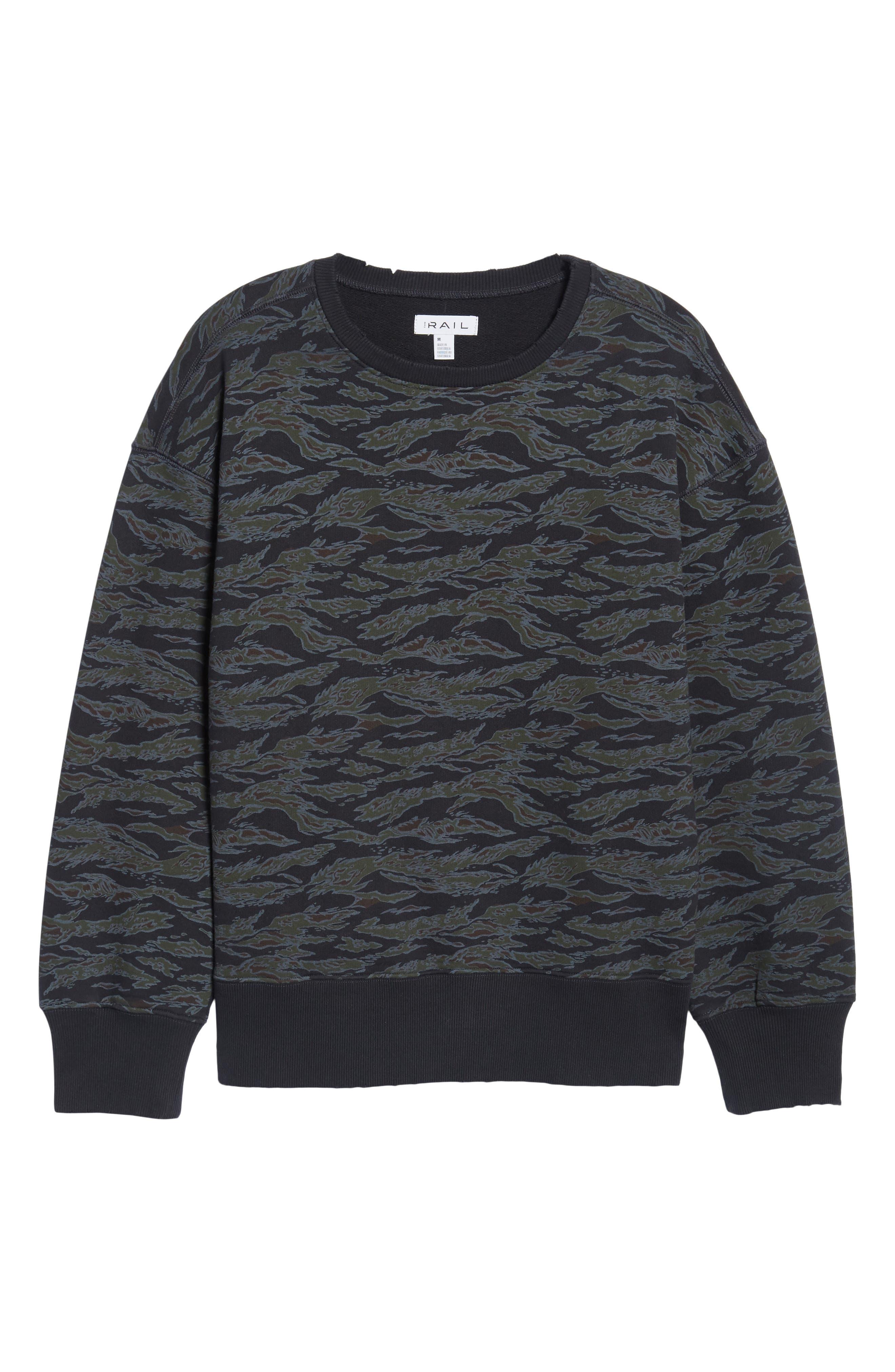 Alternate Image 6  - The Rail Print Sweatshirt