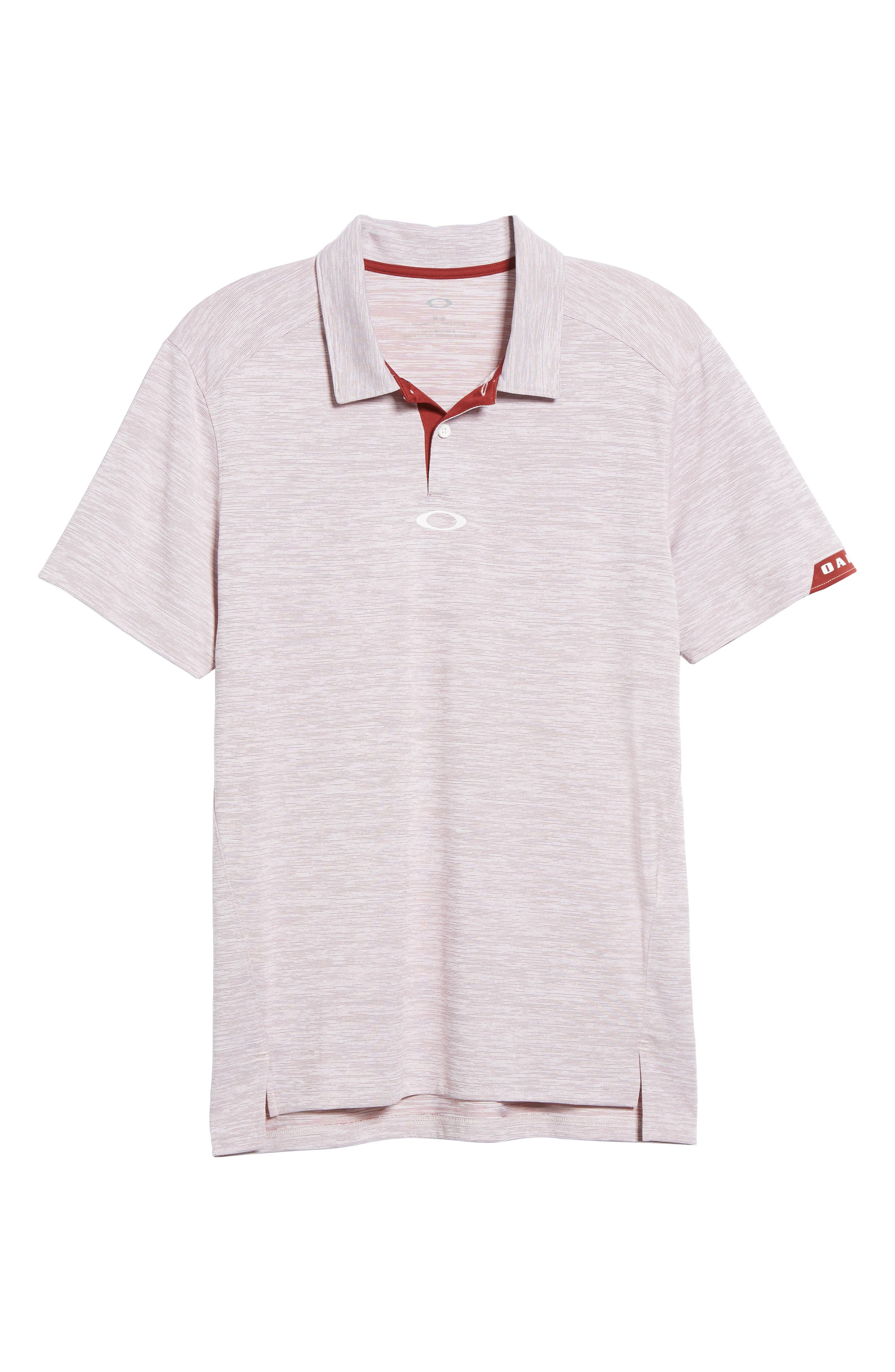 Gravity Polo Shirt,                             Alternate thumbnail 6, color,                             Iron Red