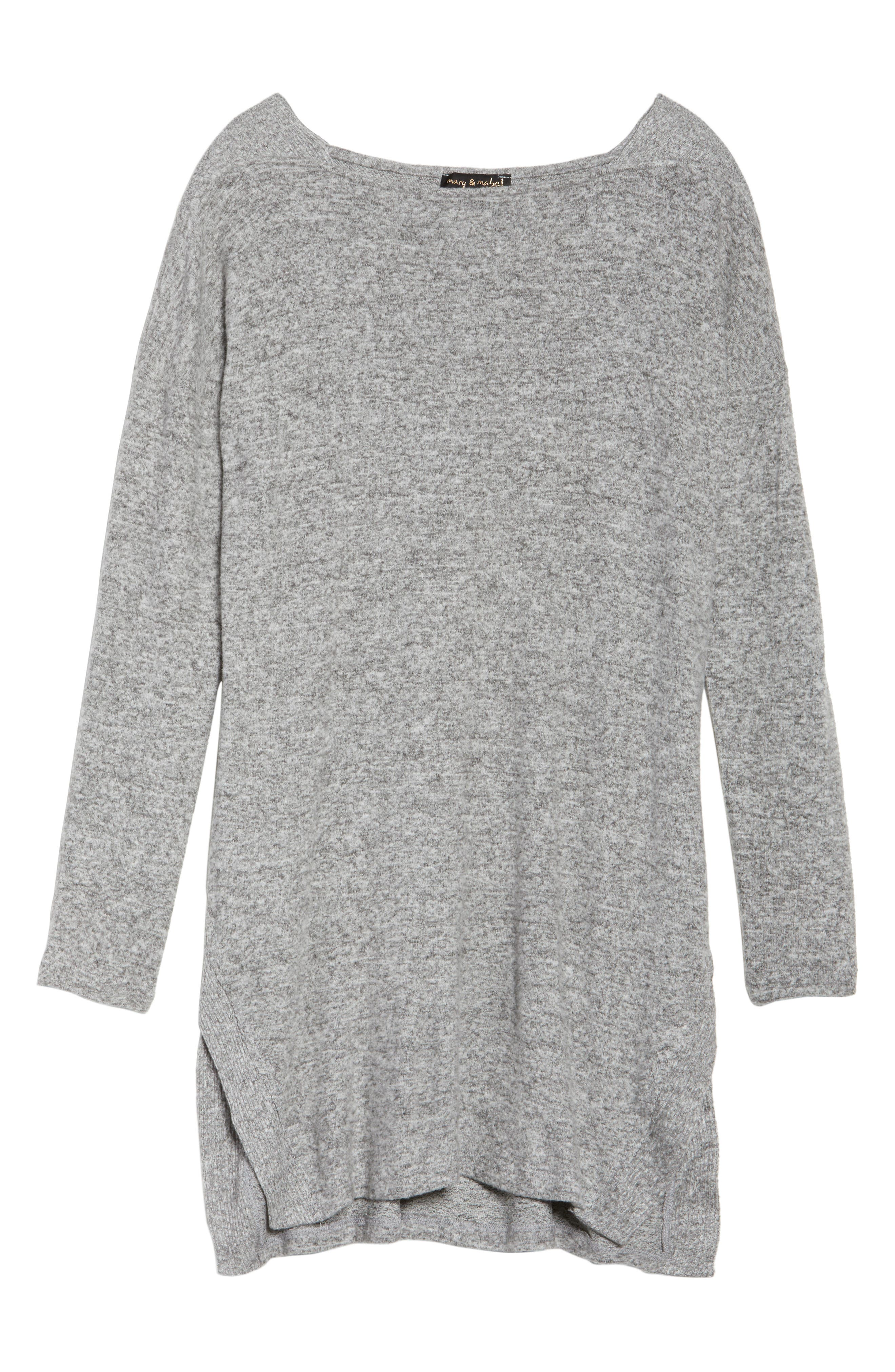 Sweater Dress,                             Alternate thumbnail 6, color,                             Grey