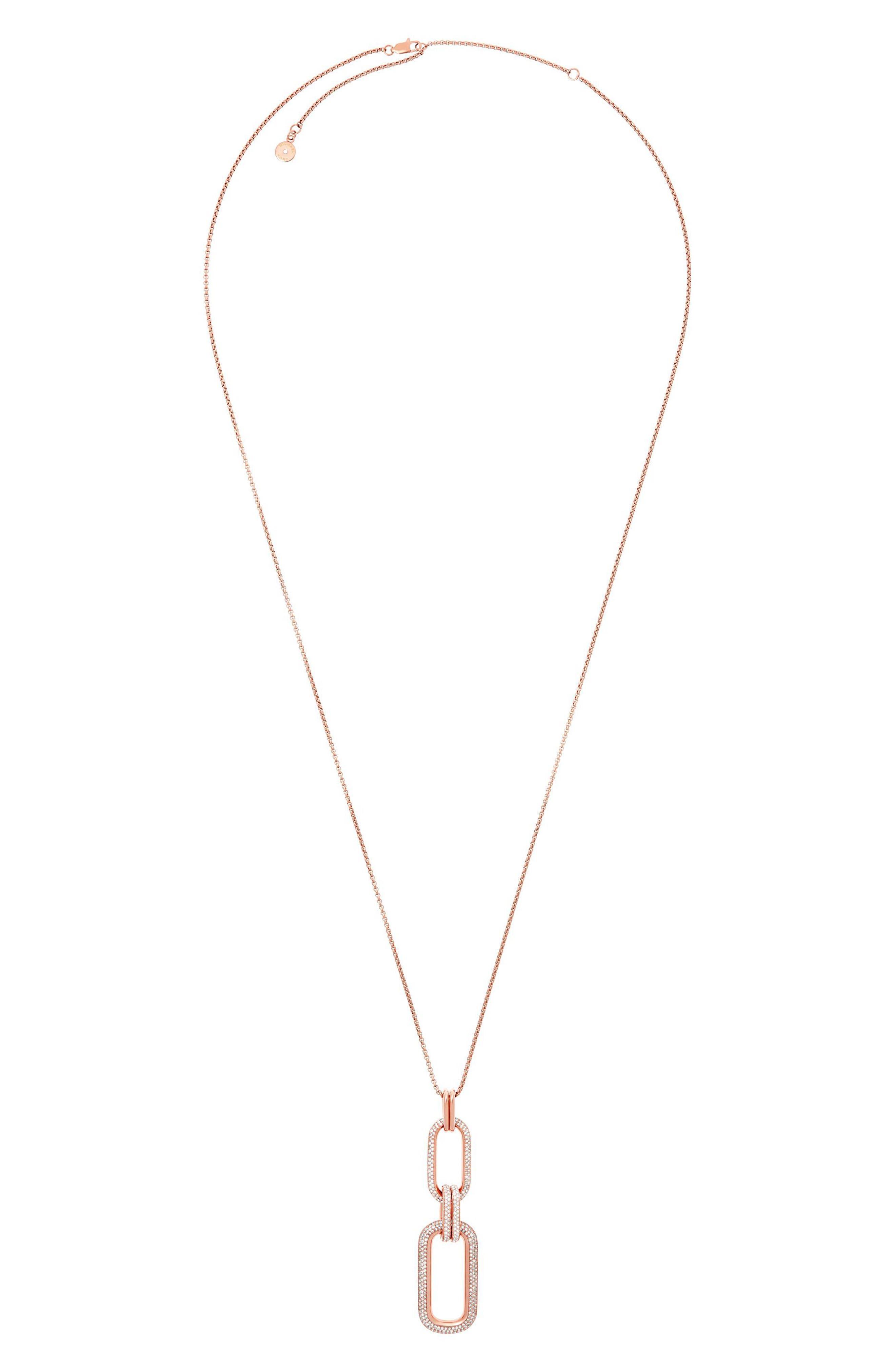 Pendant Necklace,                         Main,                         color, Rose Gold