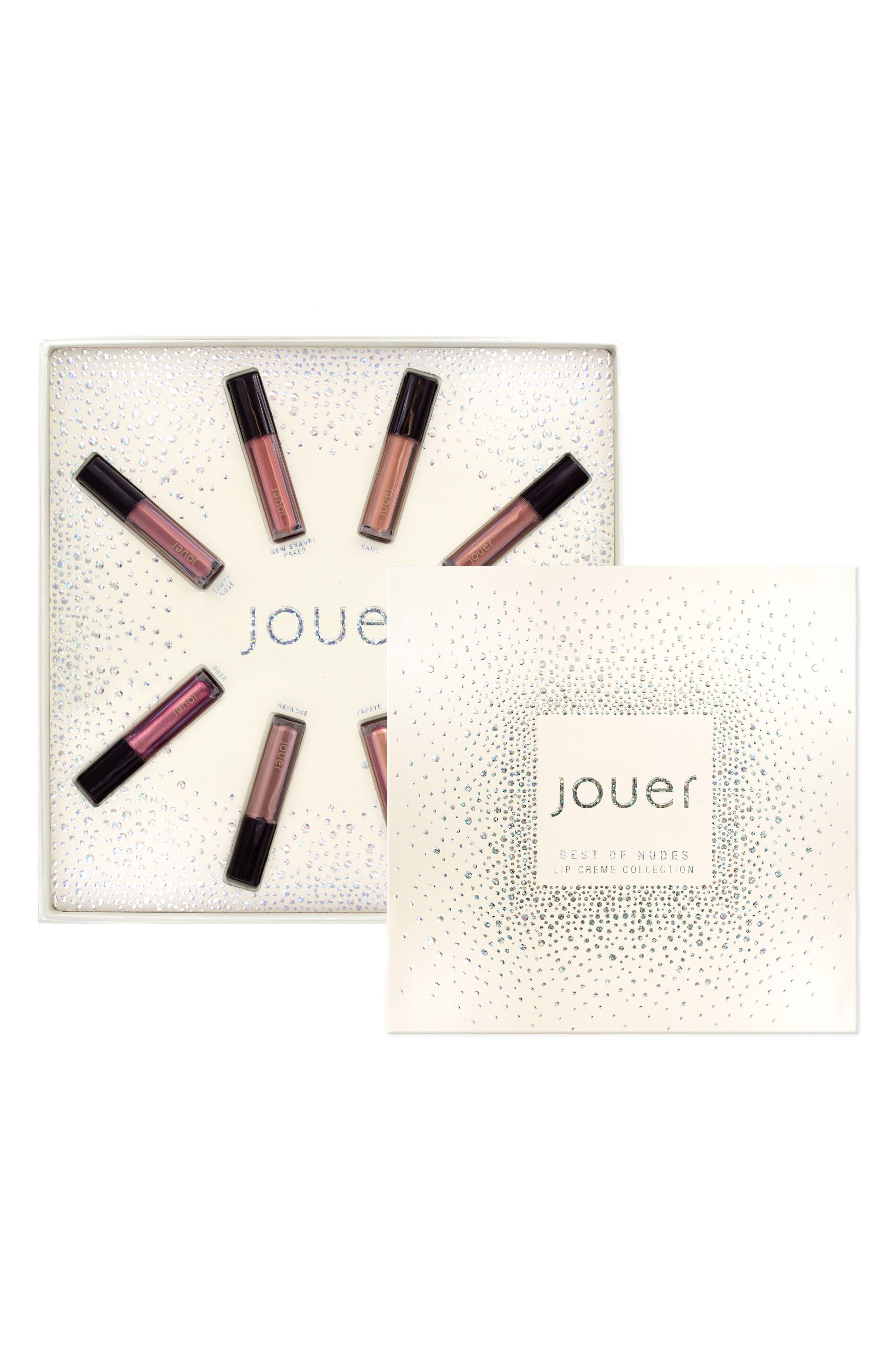 Best of Nudes Mini Long-Wear Lip Crème Liquid Lipstick Collection,                             Main thumbnail 1, color,                             No Color