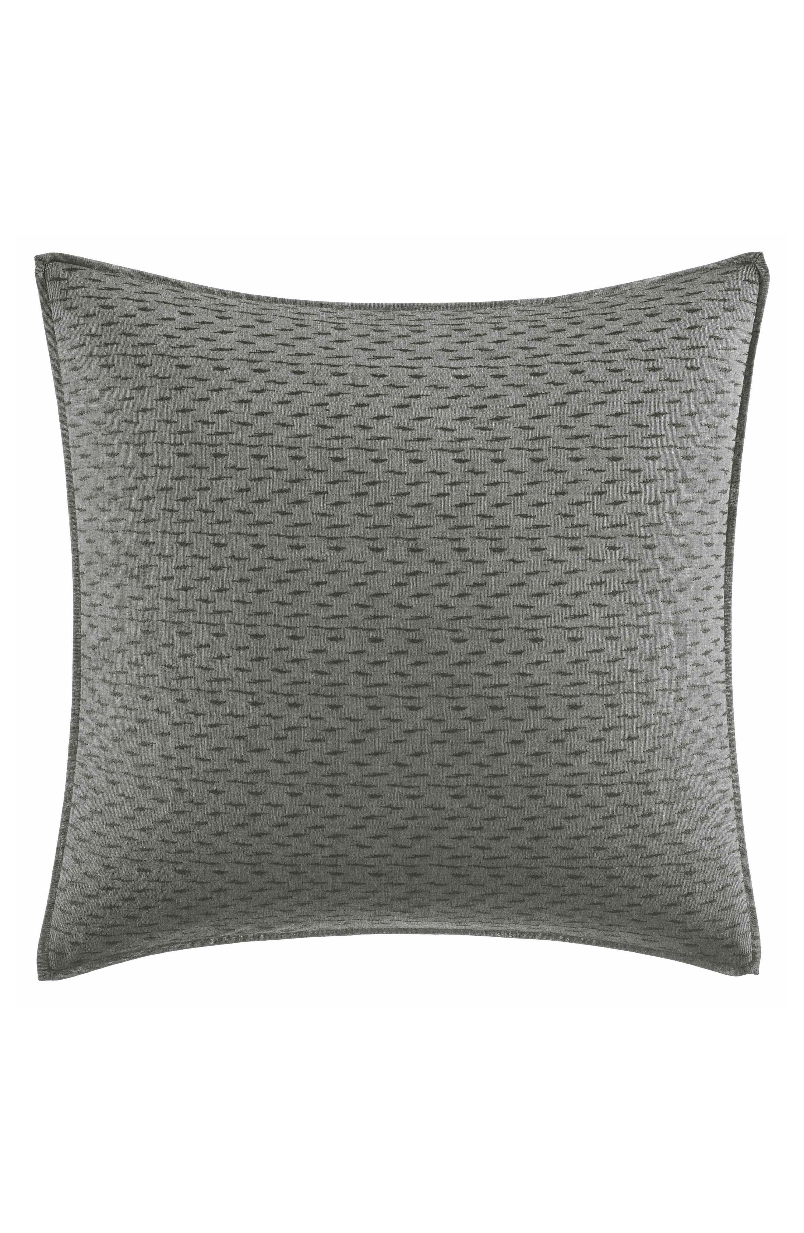 Charcoal Floral Accent Pillow,                             Main thumbnail 1, color,                             Charcoal