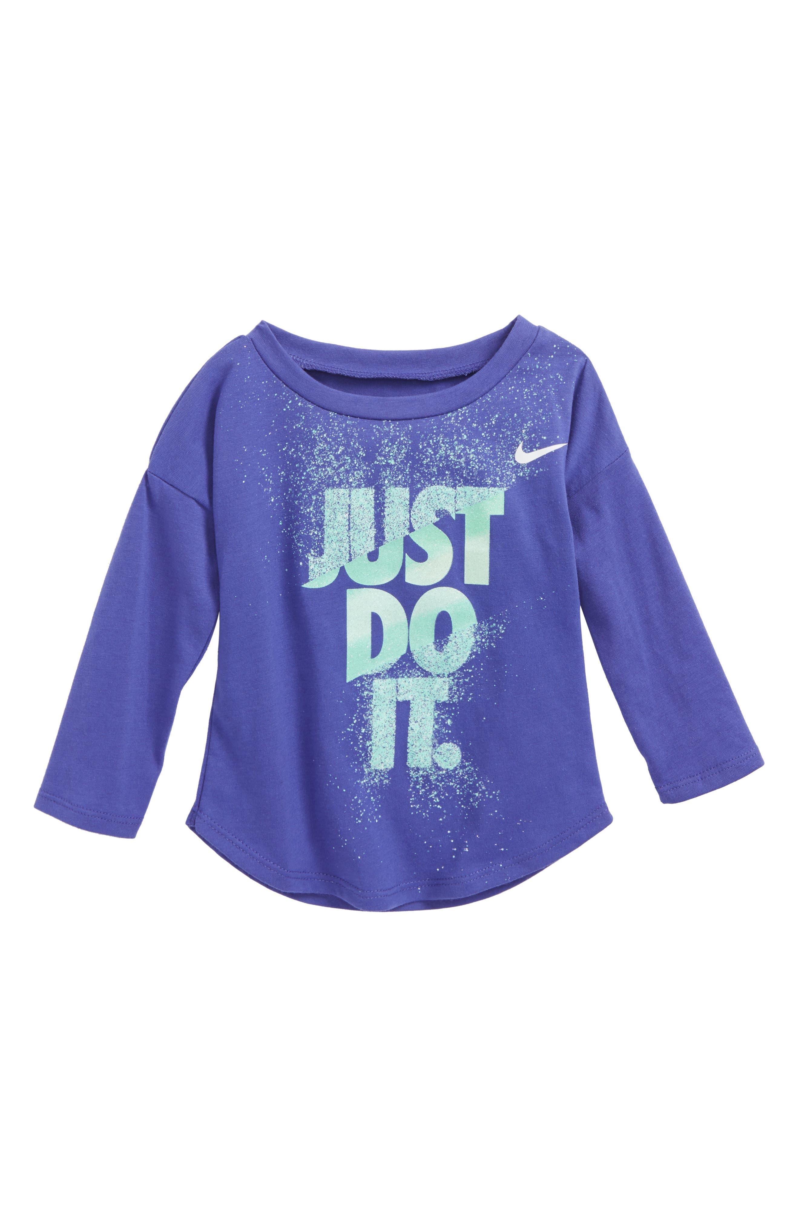 Just Do It Splice Graphic Tee,                         Main,                         color, Purple Comet