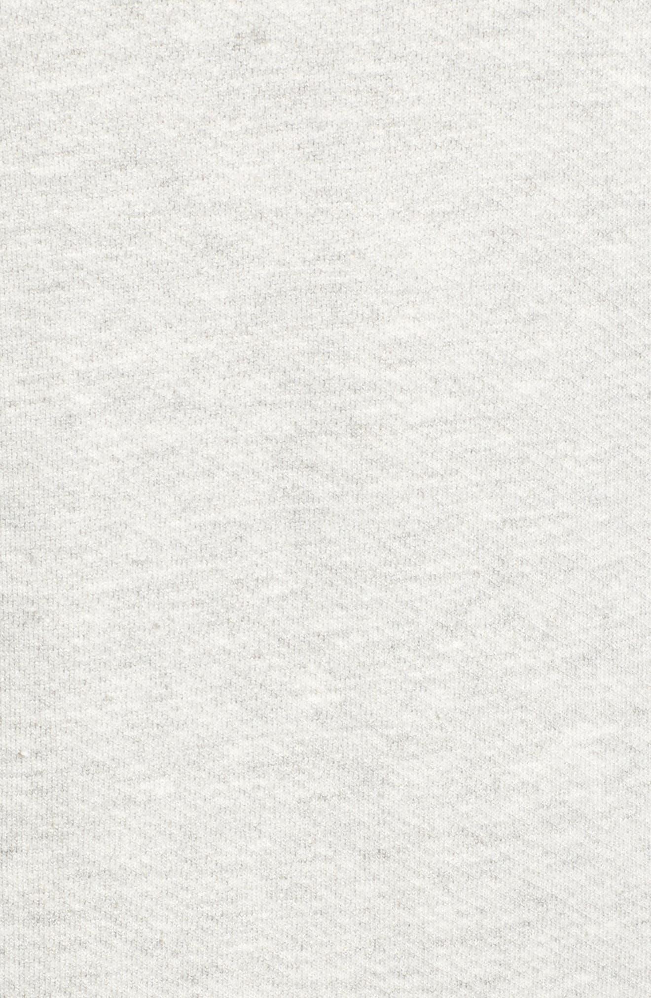 The Pleat Sweatshirt Dress,                             Alternate thumbnail 5, color,                             Light Heather Grey Terry