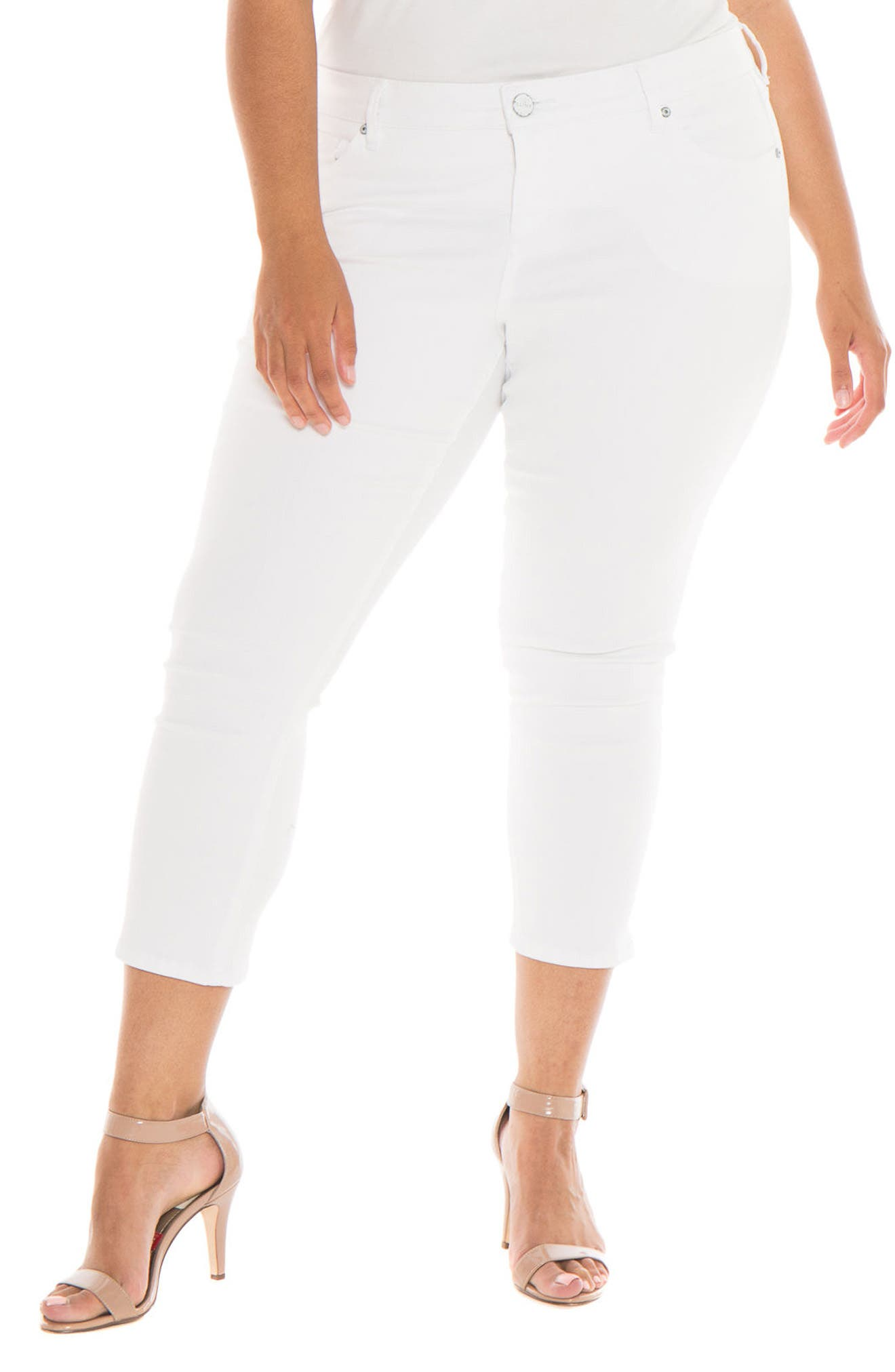 Main Image - SLINK Jeans Crop Skinny Jeans (Charlie) (Plus Size)