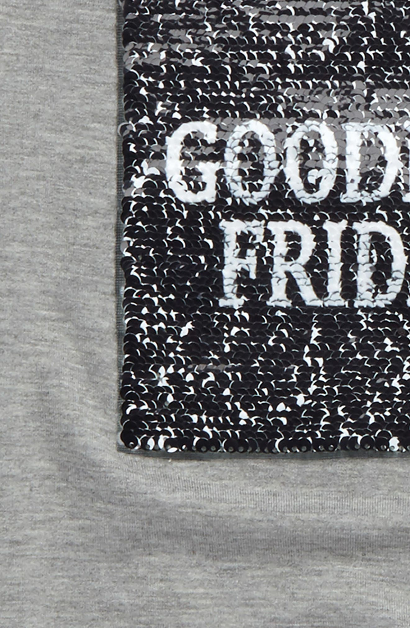 Alternate Image 3  - Ten Sixty Sherman Goodbye Friday, Hello Weekend Flipper Tee (Big Girls)