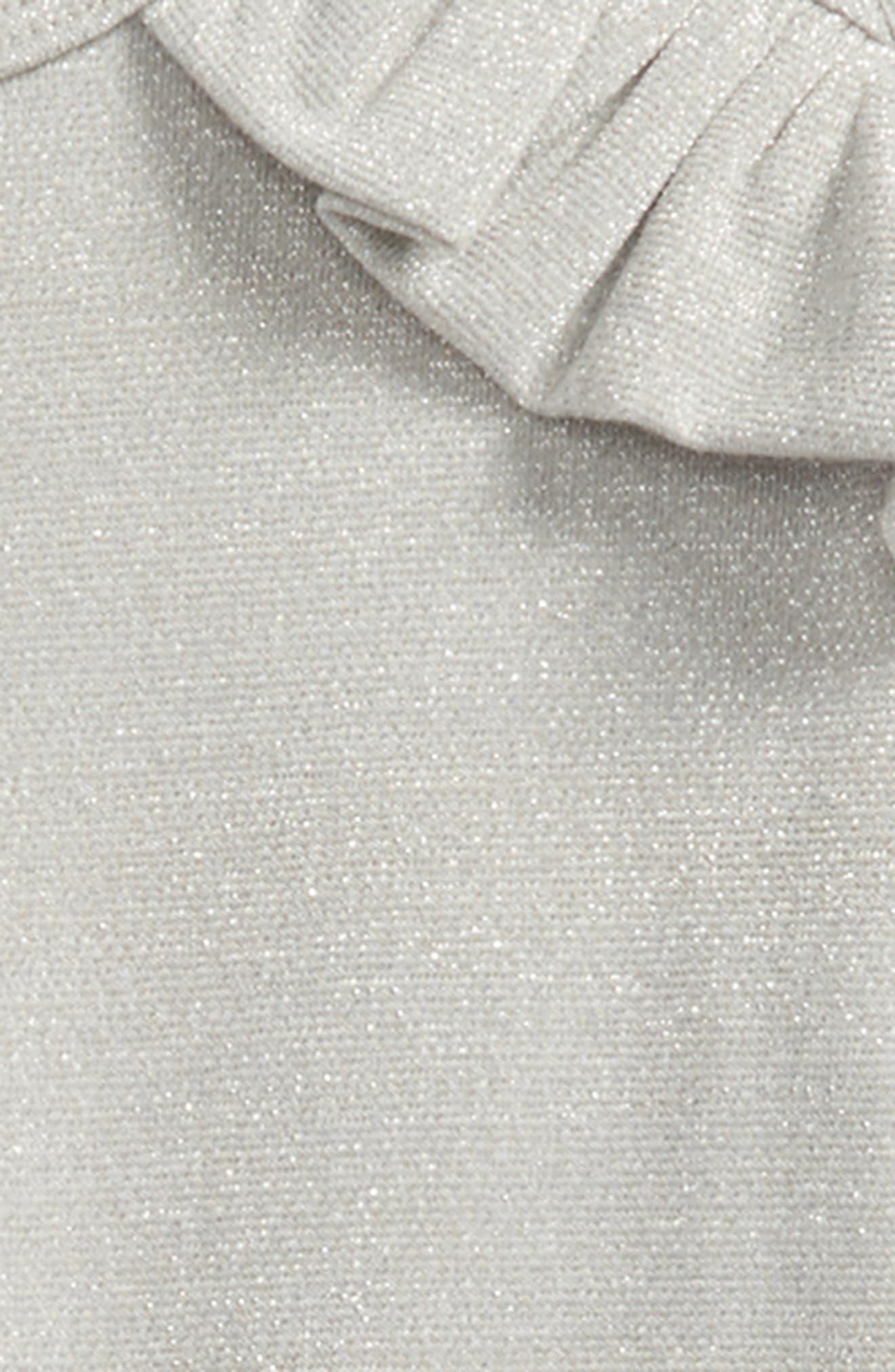 Cold Shoulder Top,                             Alternate thumbnail 2, color,                             Silver
