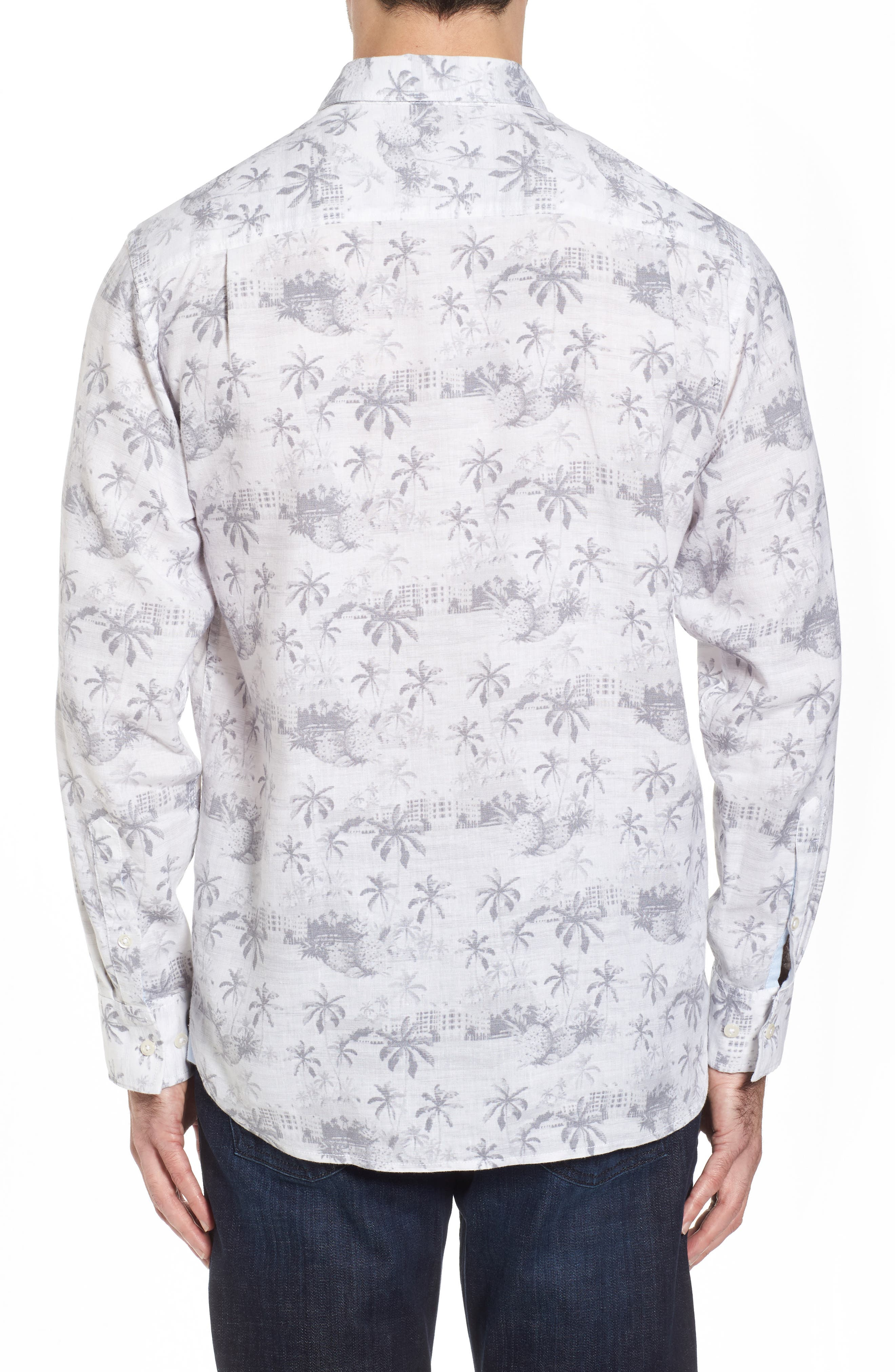 Tropical Toile Sport Shirt,                             Alternate thumbnail 2, color,                             Micro Chip