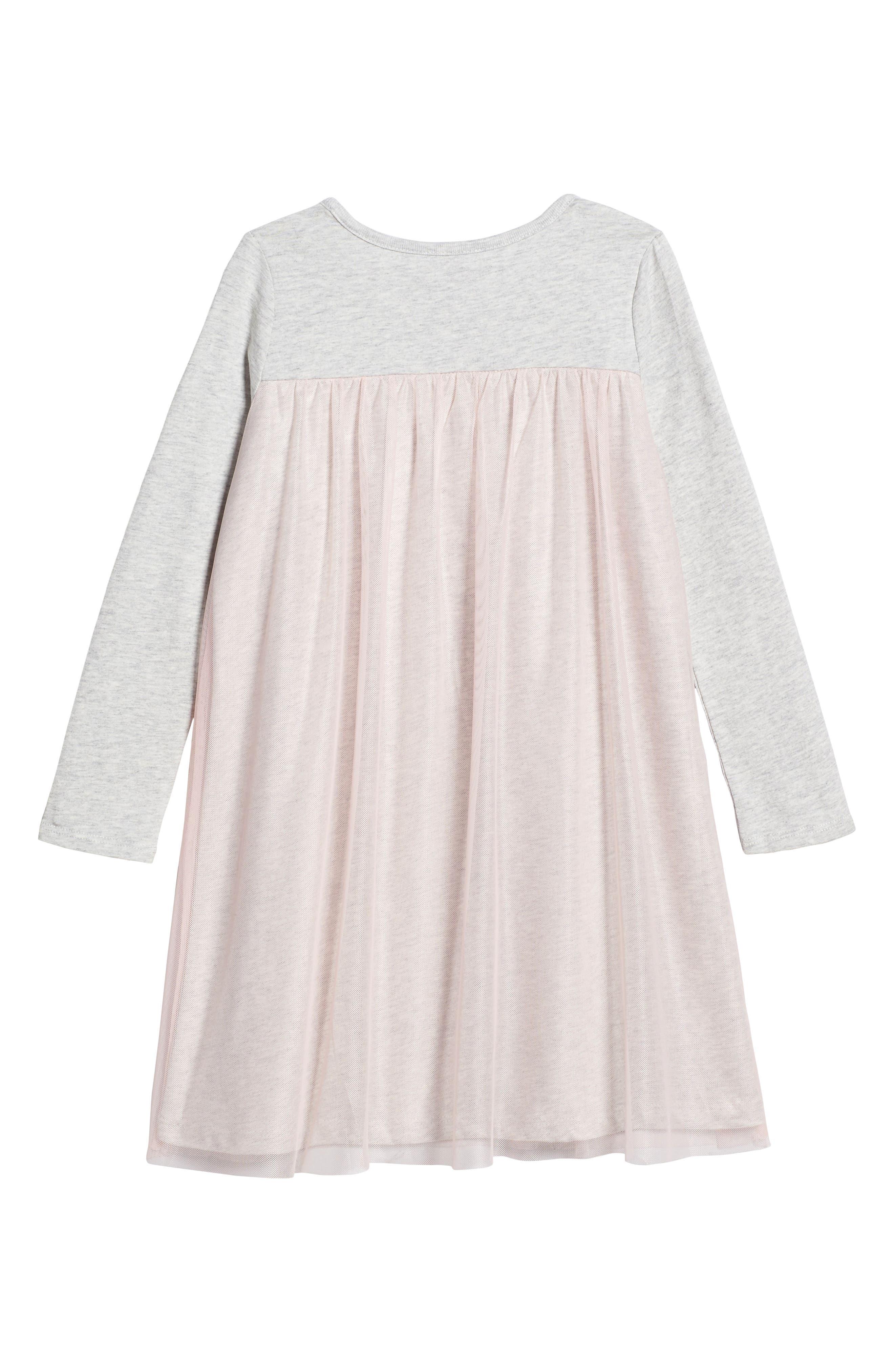 Mackenzie Tulle Dress,                             Alternate thumbnail 2, color,                             Soft Peach