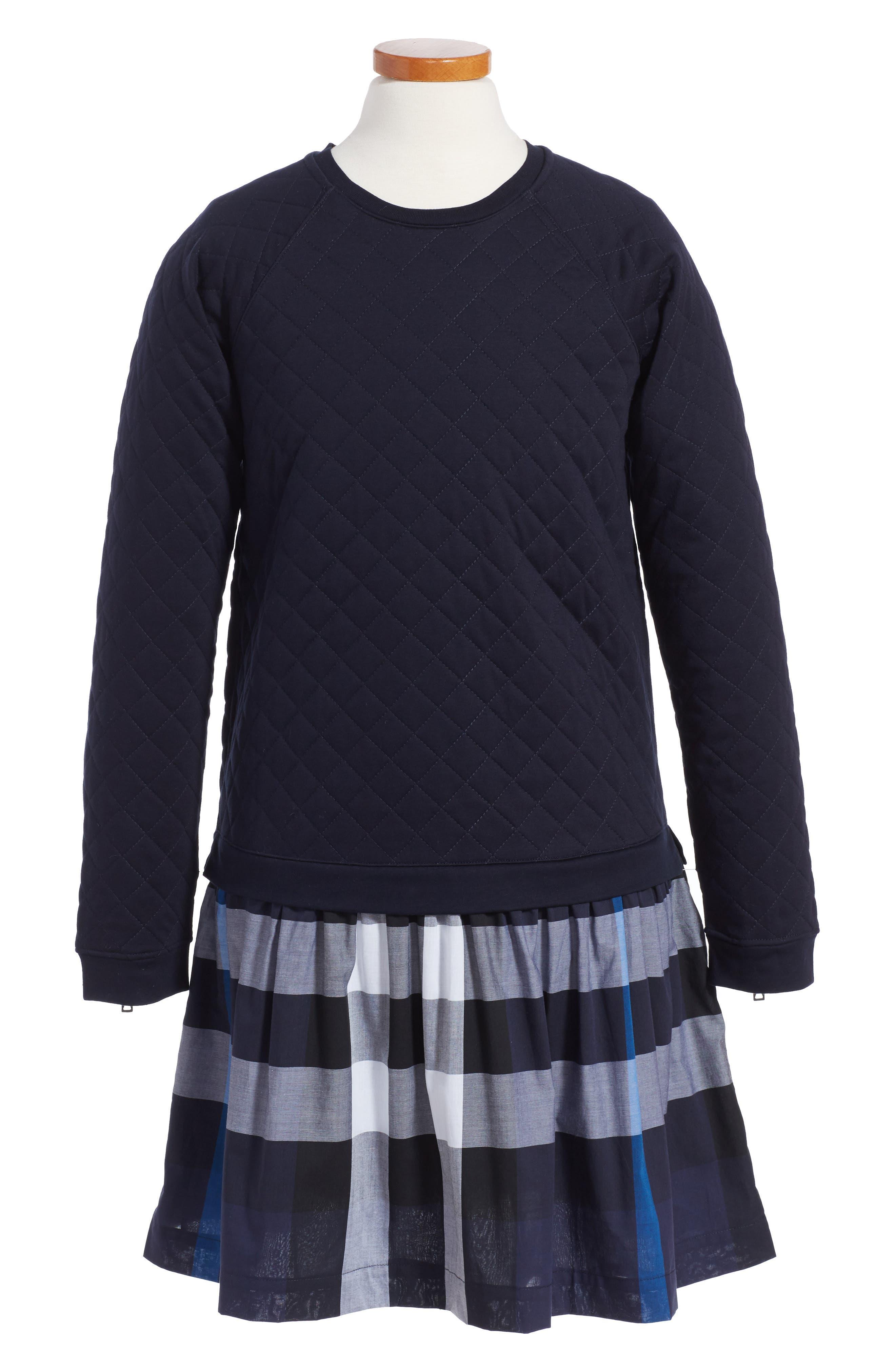 Mini Orlia Drop Waist Dress,                         Main,                         color, Navy