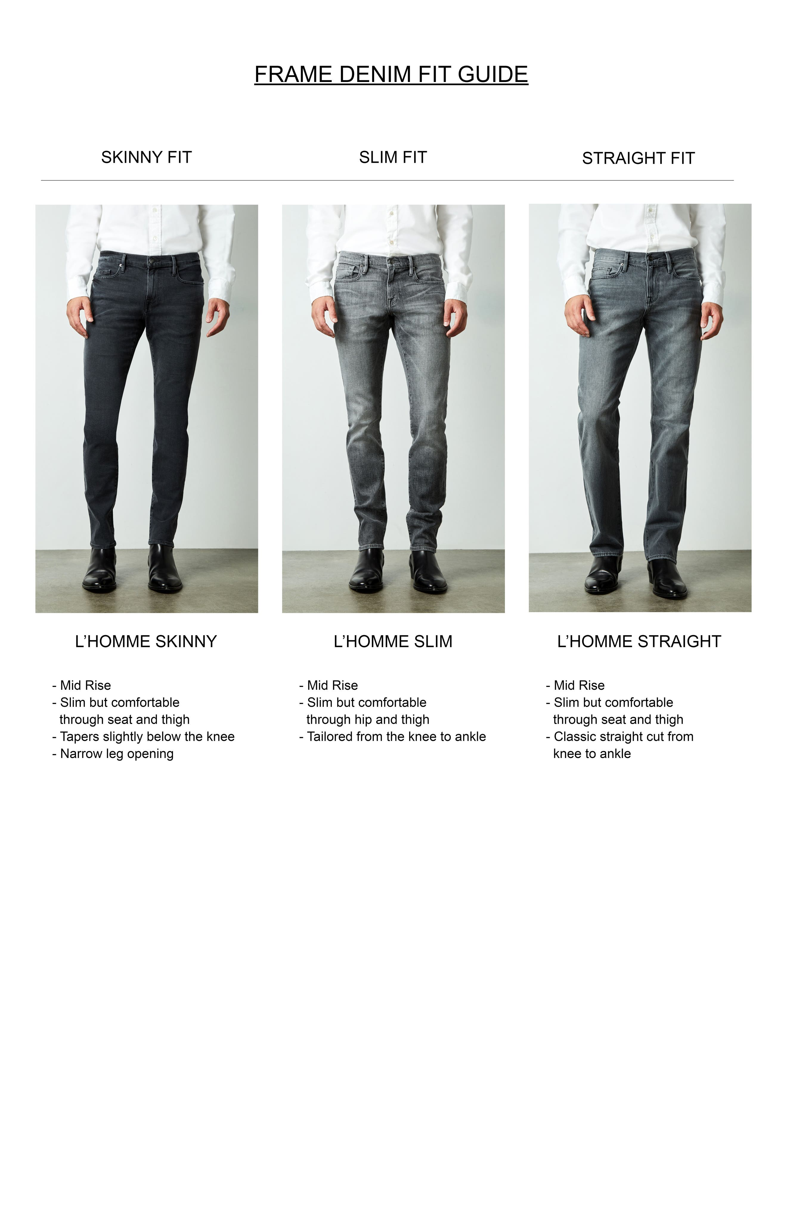Alternate Image 7  - FRAME L'Homme Slim Straight Leg Jeans (Alamo)