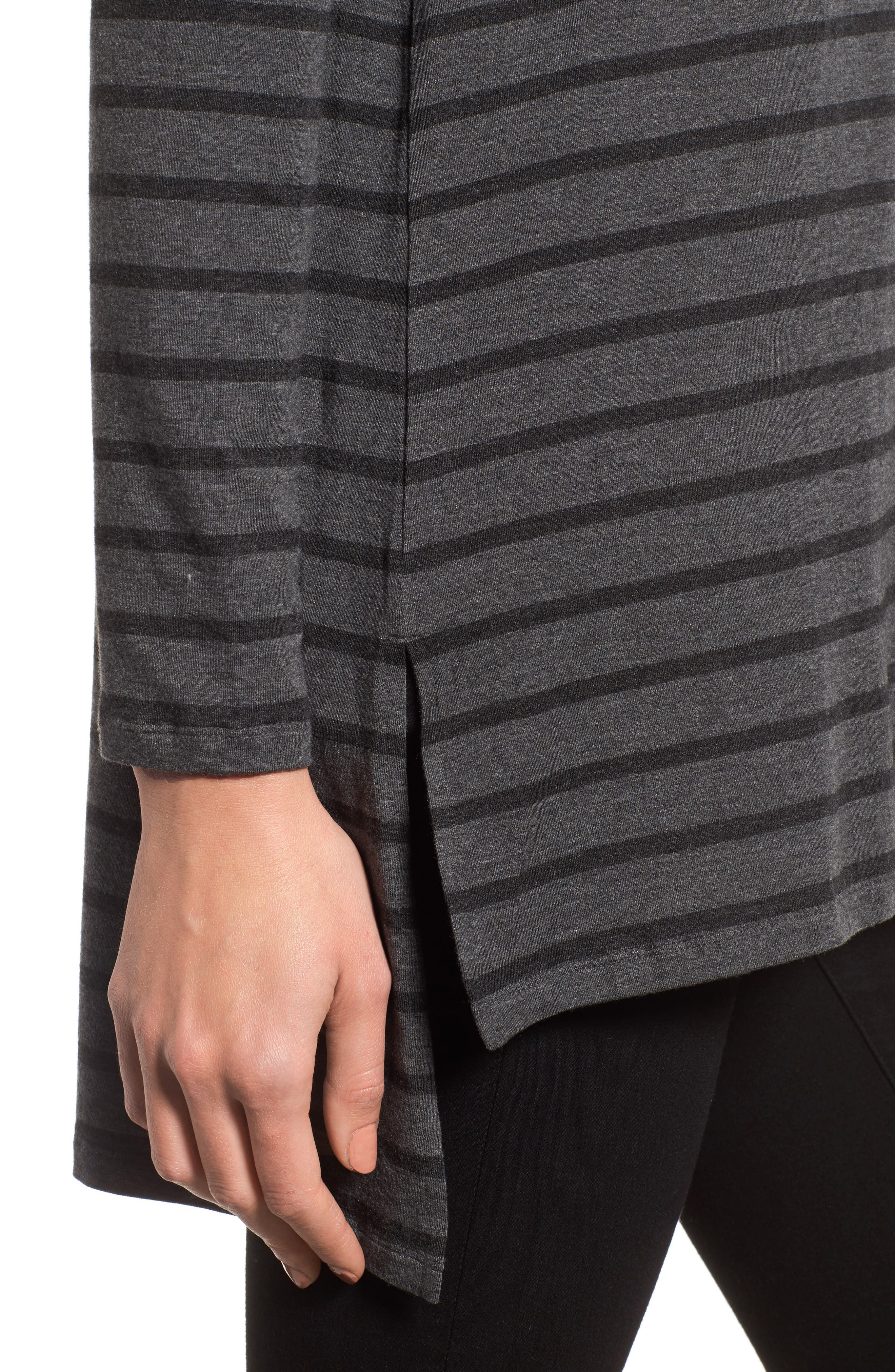 Alternate Image 4  - Eileen Fisher Stripe Stretch Tencel® Tunic