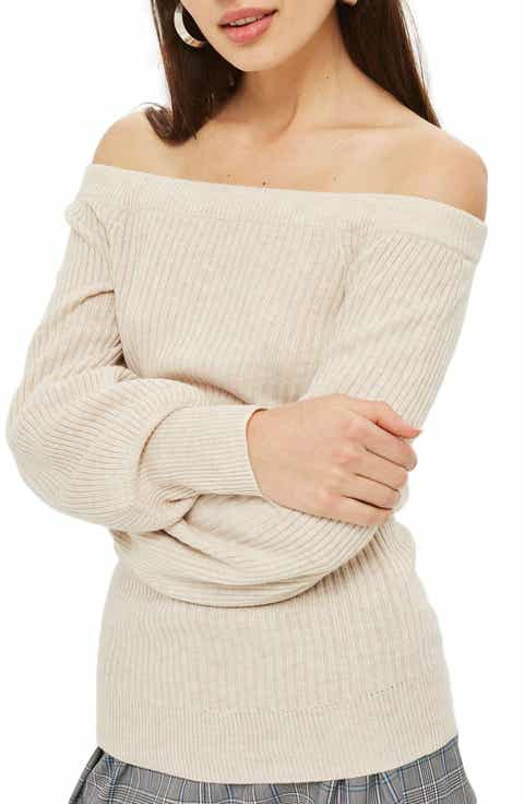 Topshop Off the Shoulder Sweater