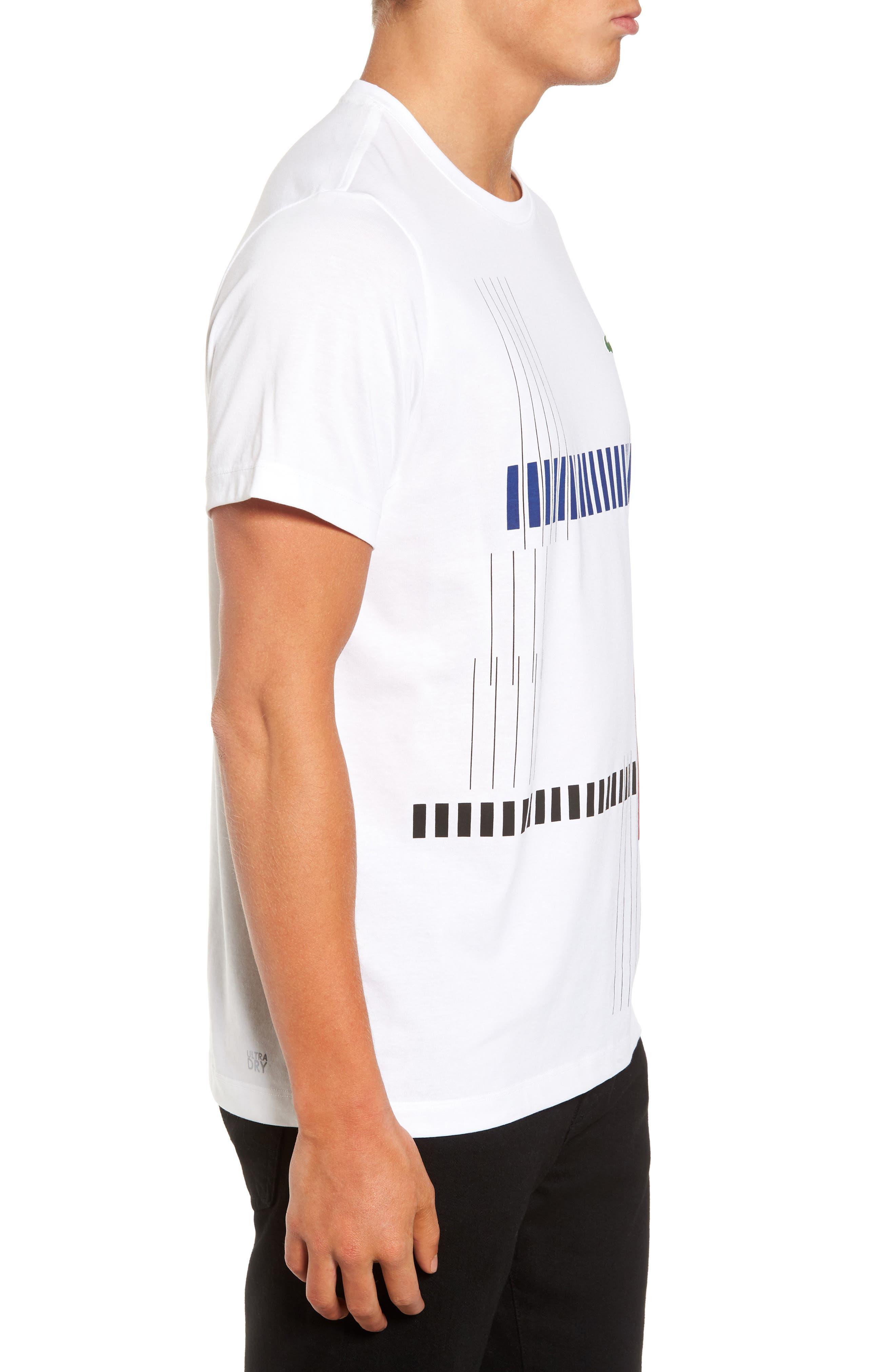 Tech Vertical Stripe Graphic T-Shirt,                             Alternate thumbnail 3, color,                             U88 White/ Ocean-Ladybird-Blac