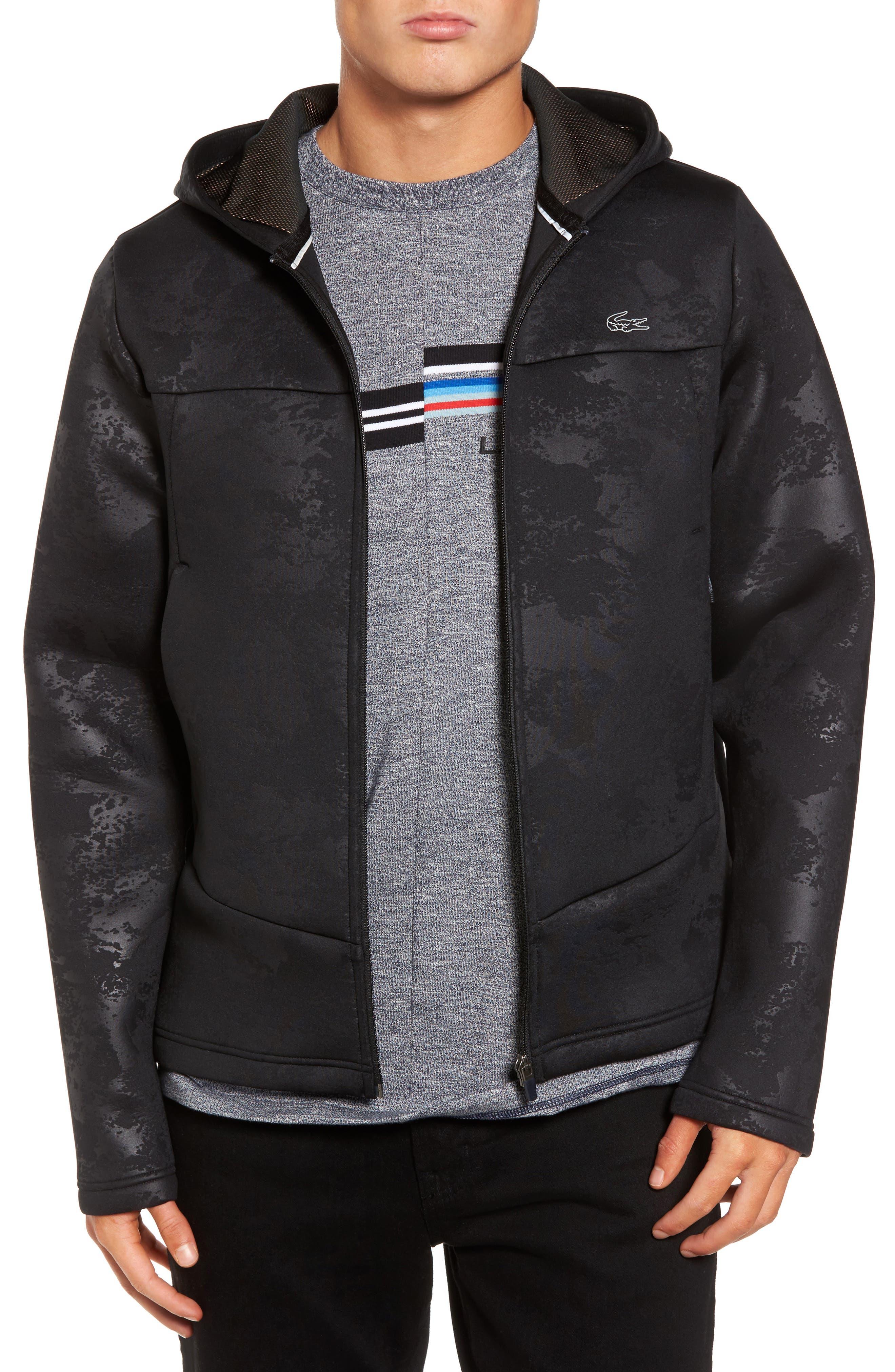 Lacoste Full Zip Hooded Fleece Jacket