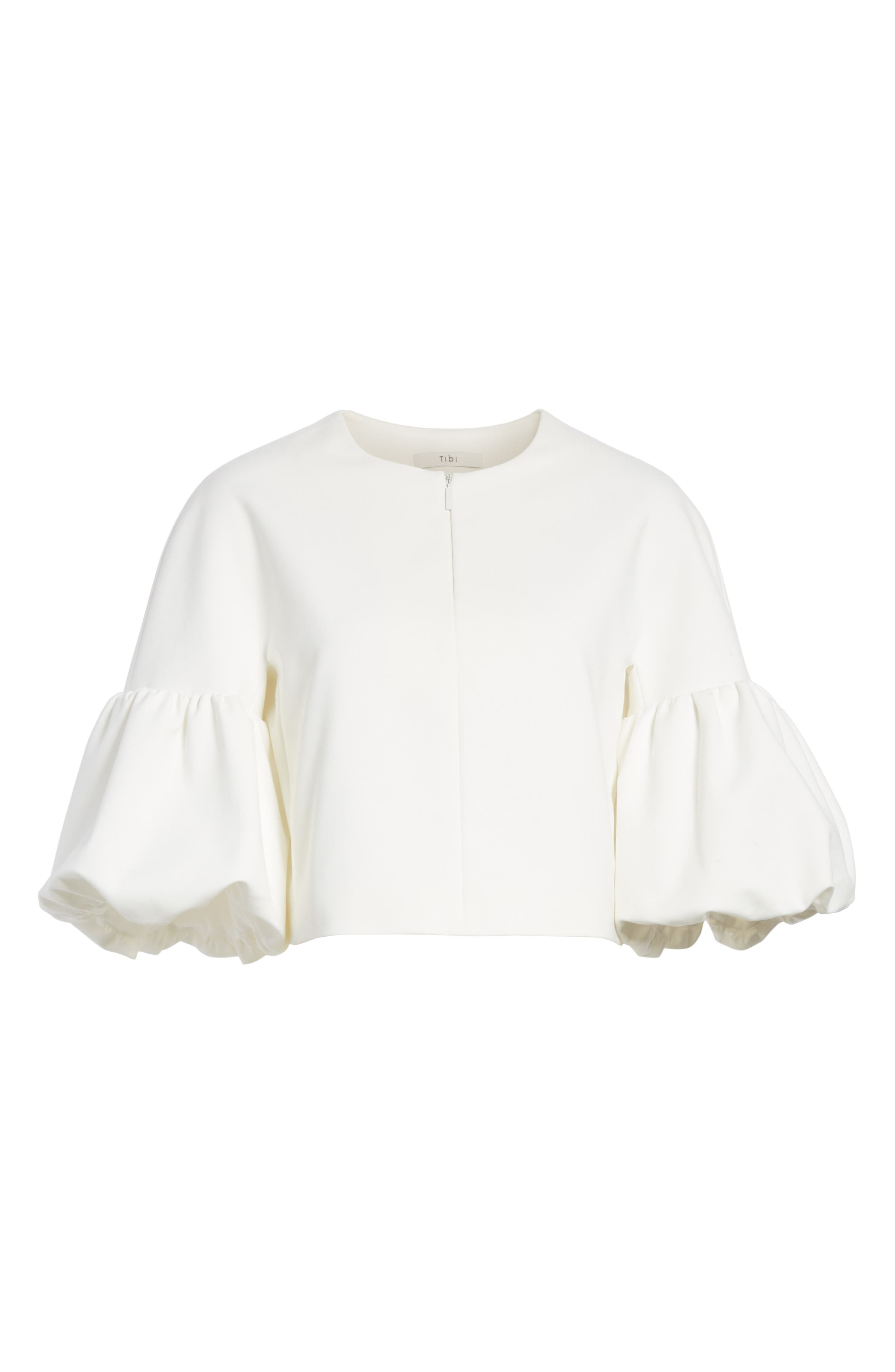Balloon Sleeve Top,                             Alternate thumbnail 7, color,                             Ivory