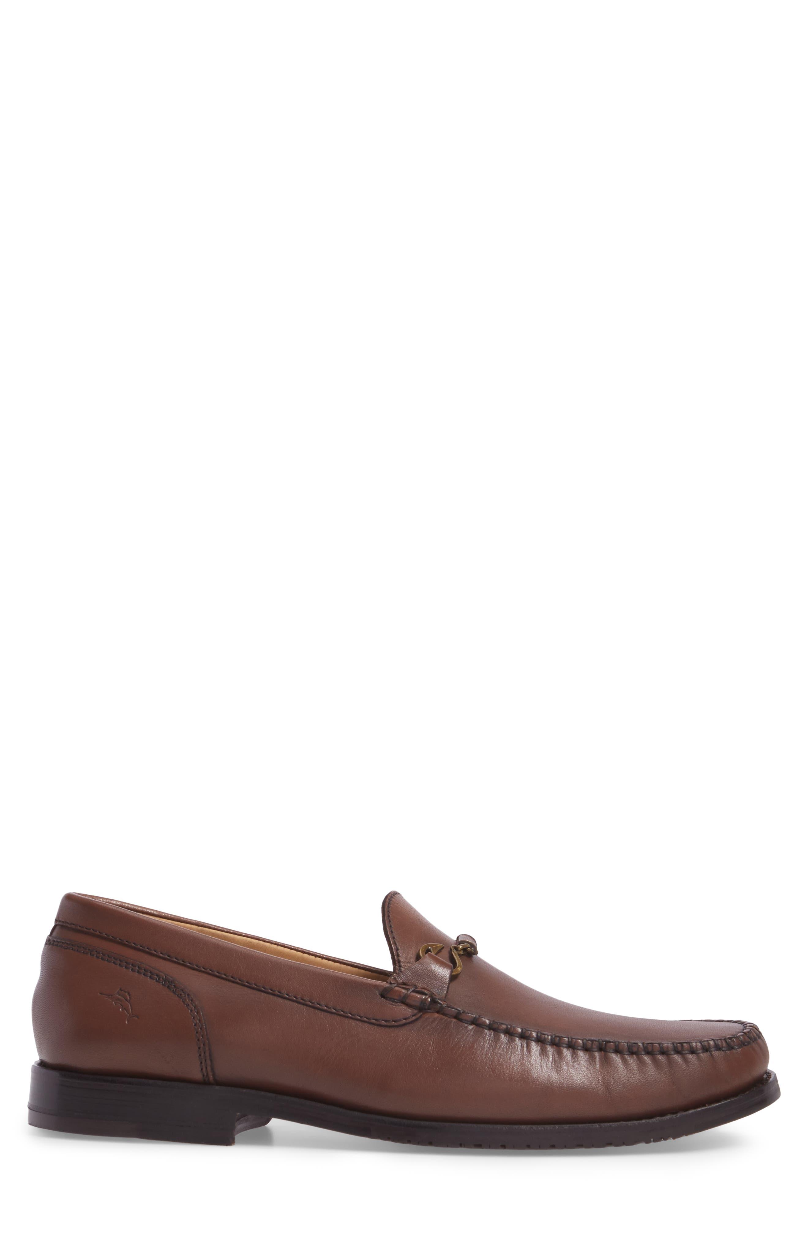 Maya Bay Bit Loafer,                             Alternate thumbnail 3, color,                             Brown Leather