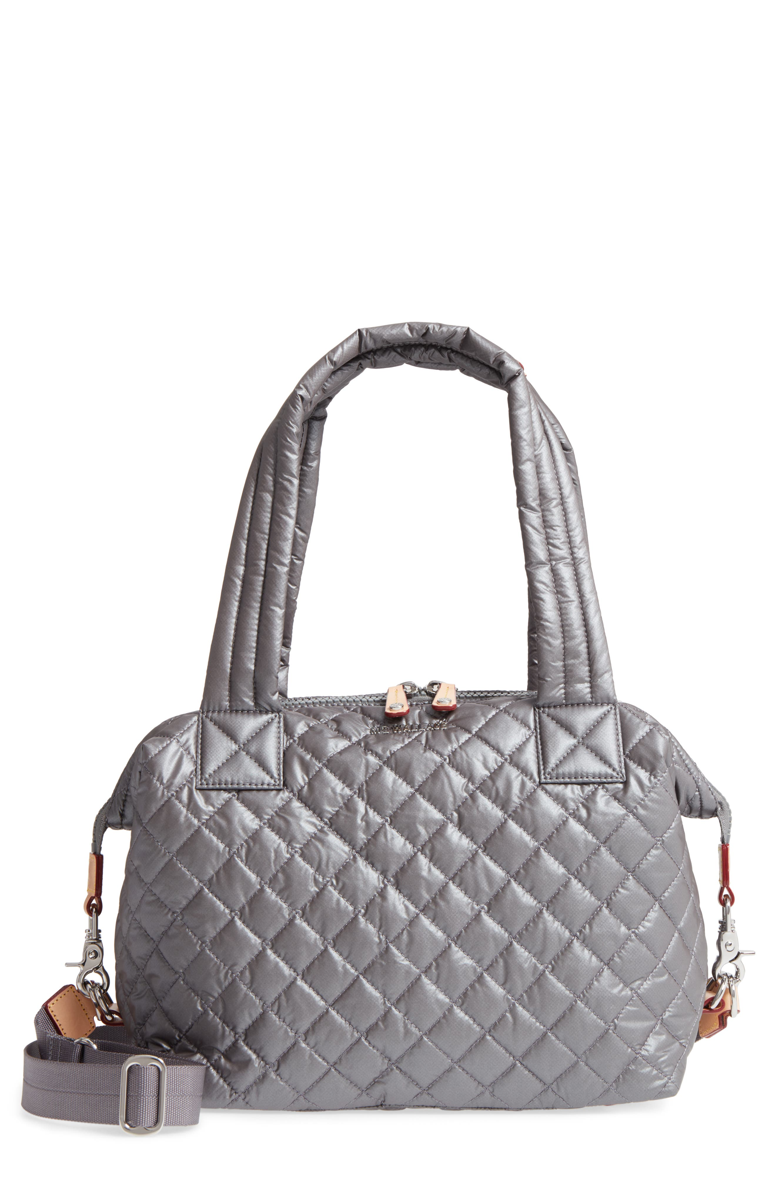 Alternate Image 1 Selected - MZ Wallace 'Medium Sutton' Quilted Oxford Nylon Shoulder Tote