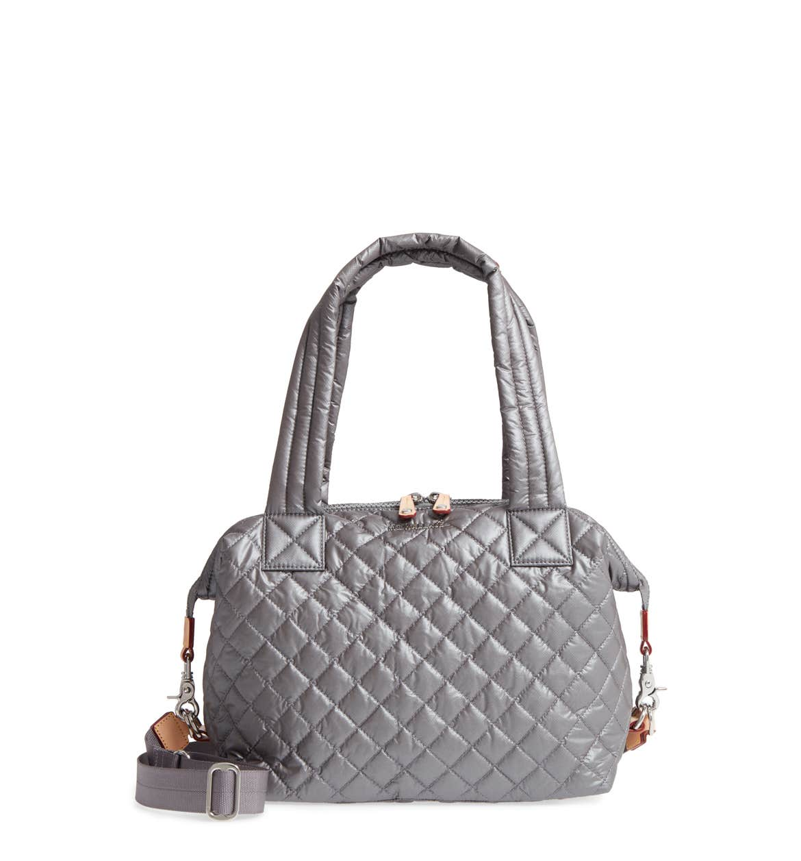 Quilted Oxford Nylon Shoulder Tote