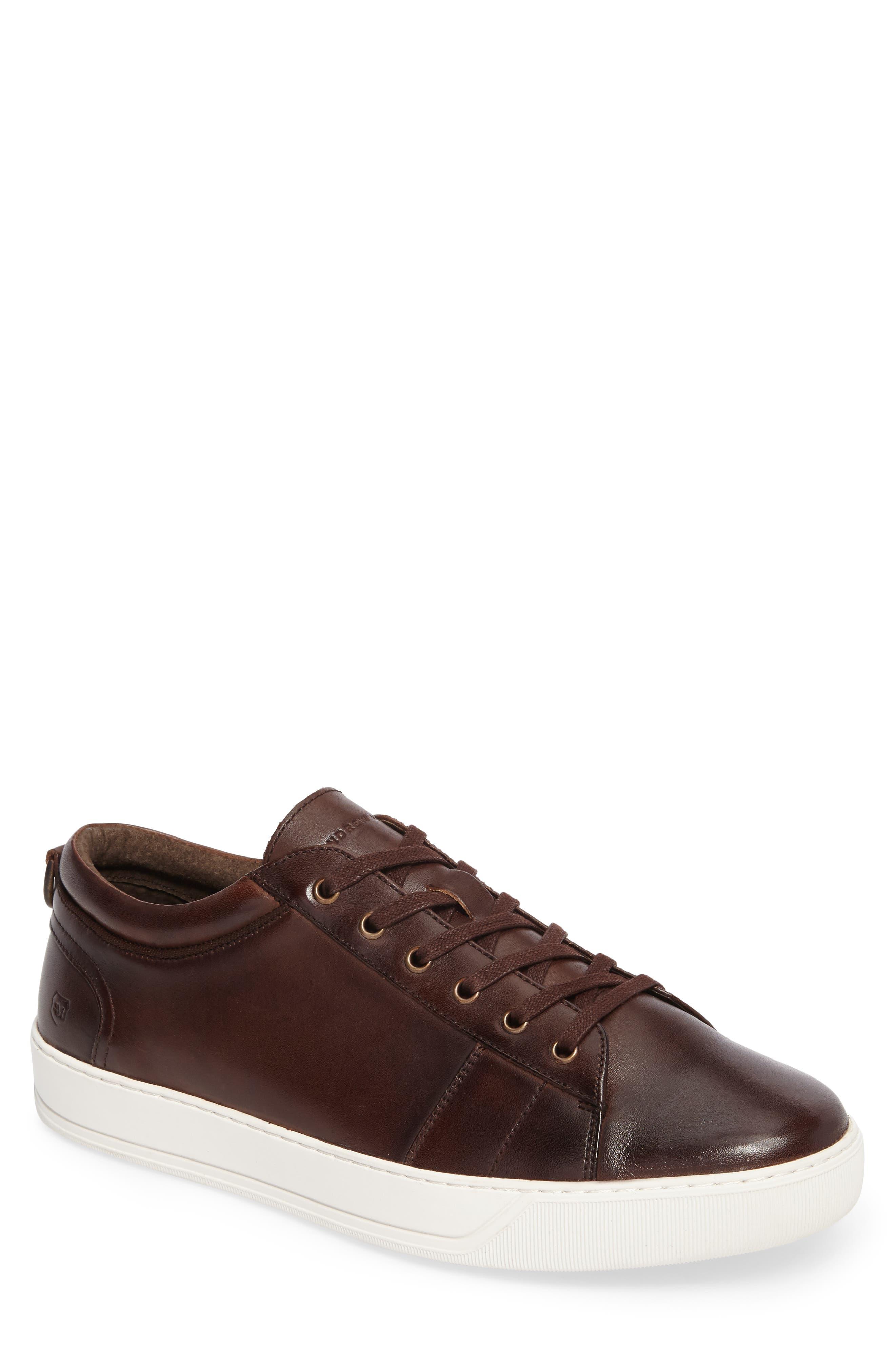 'Darwood' Sneaker,                         Main,                         color, Dark Brown/ White Leather
