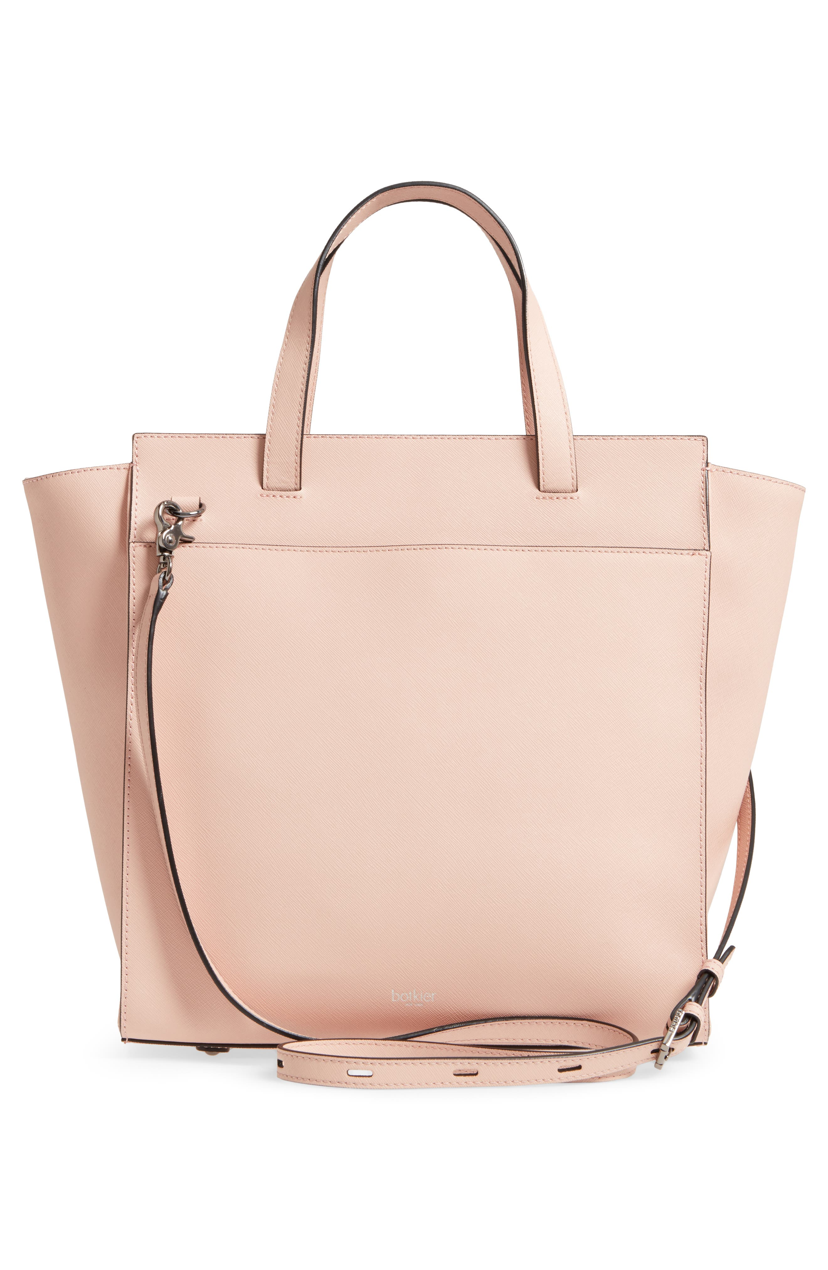 Jagger Leather Tote,                             Alternate thumbnail 3, color,                             Blush
