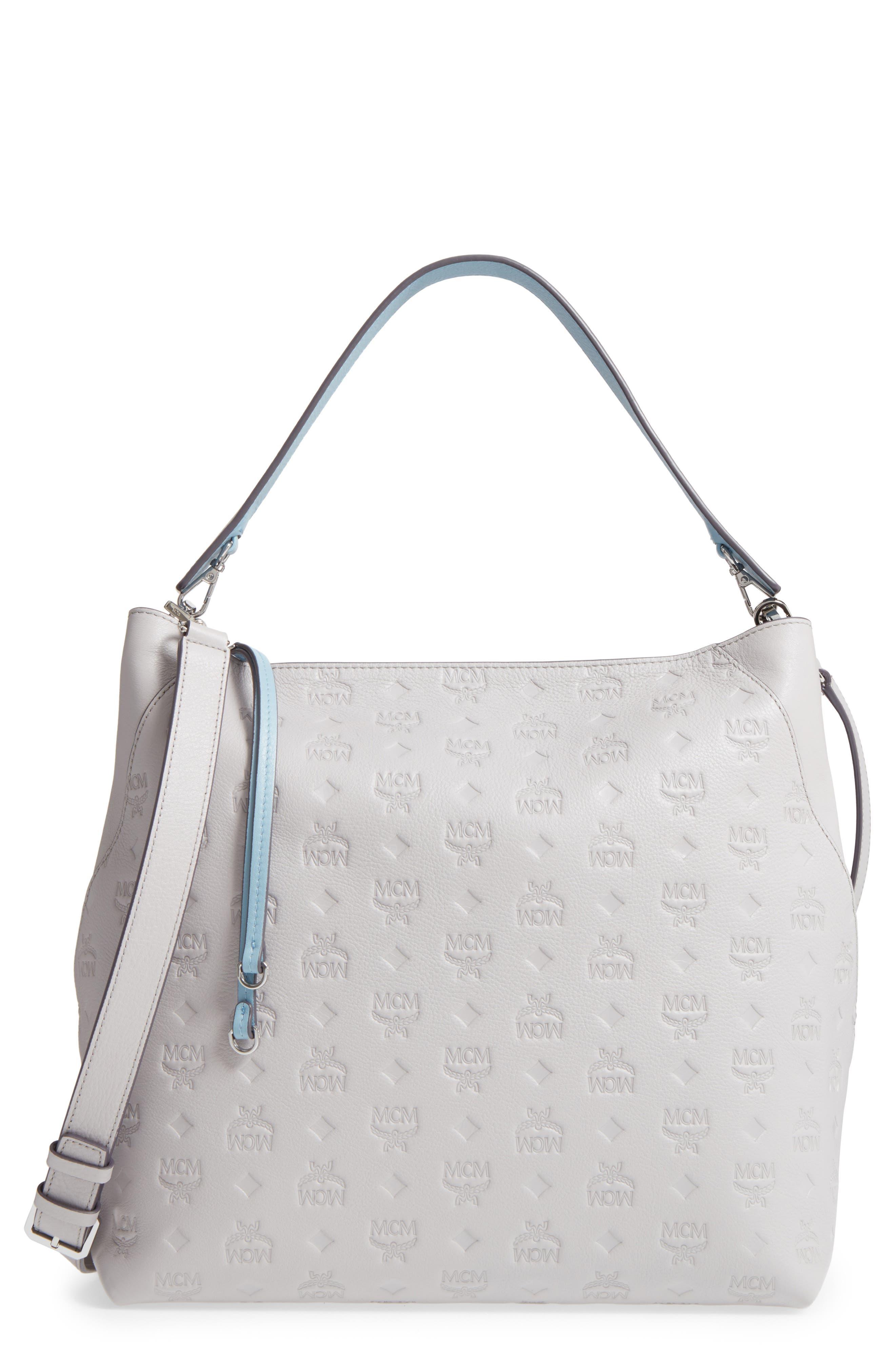 Main Image - MCM Klara Monogrammed Leather Hobo Bag