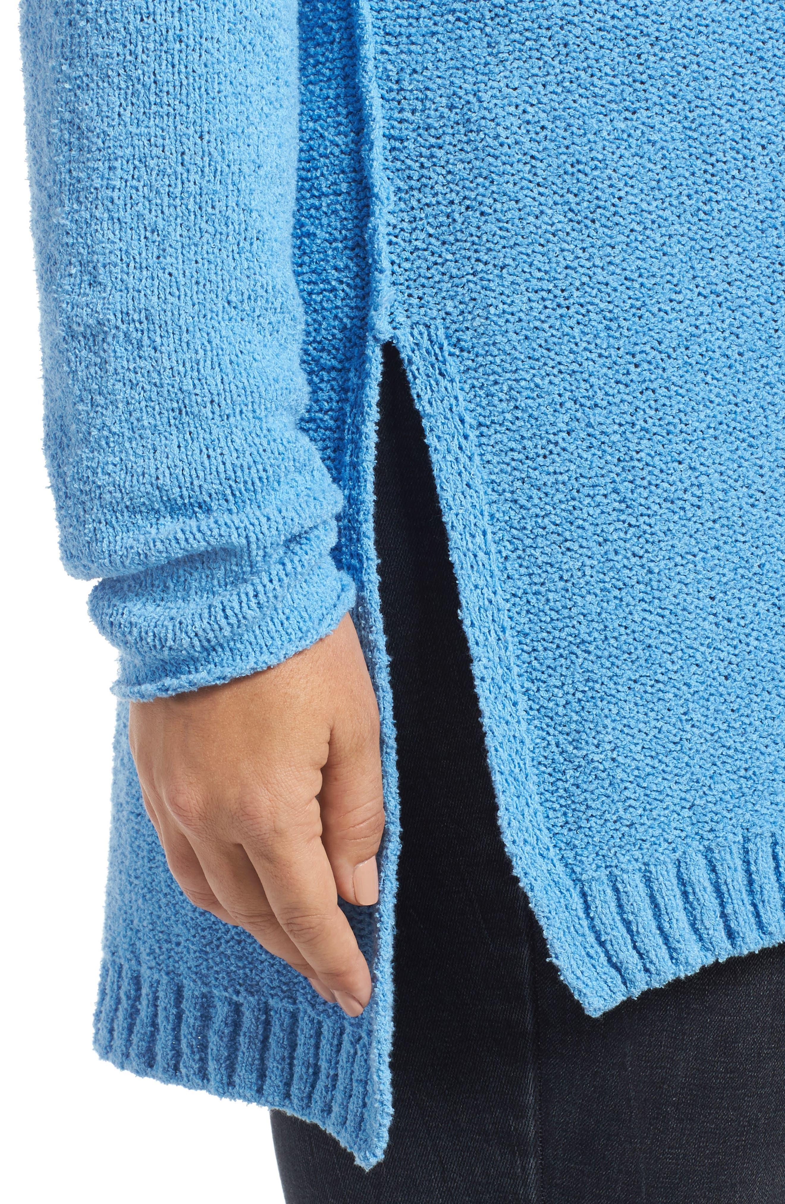 Tunic Sweater,                             Alternate thumbnail 4, color,                             Blue Lichen