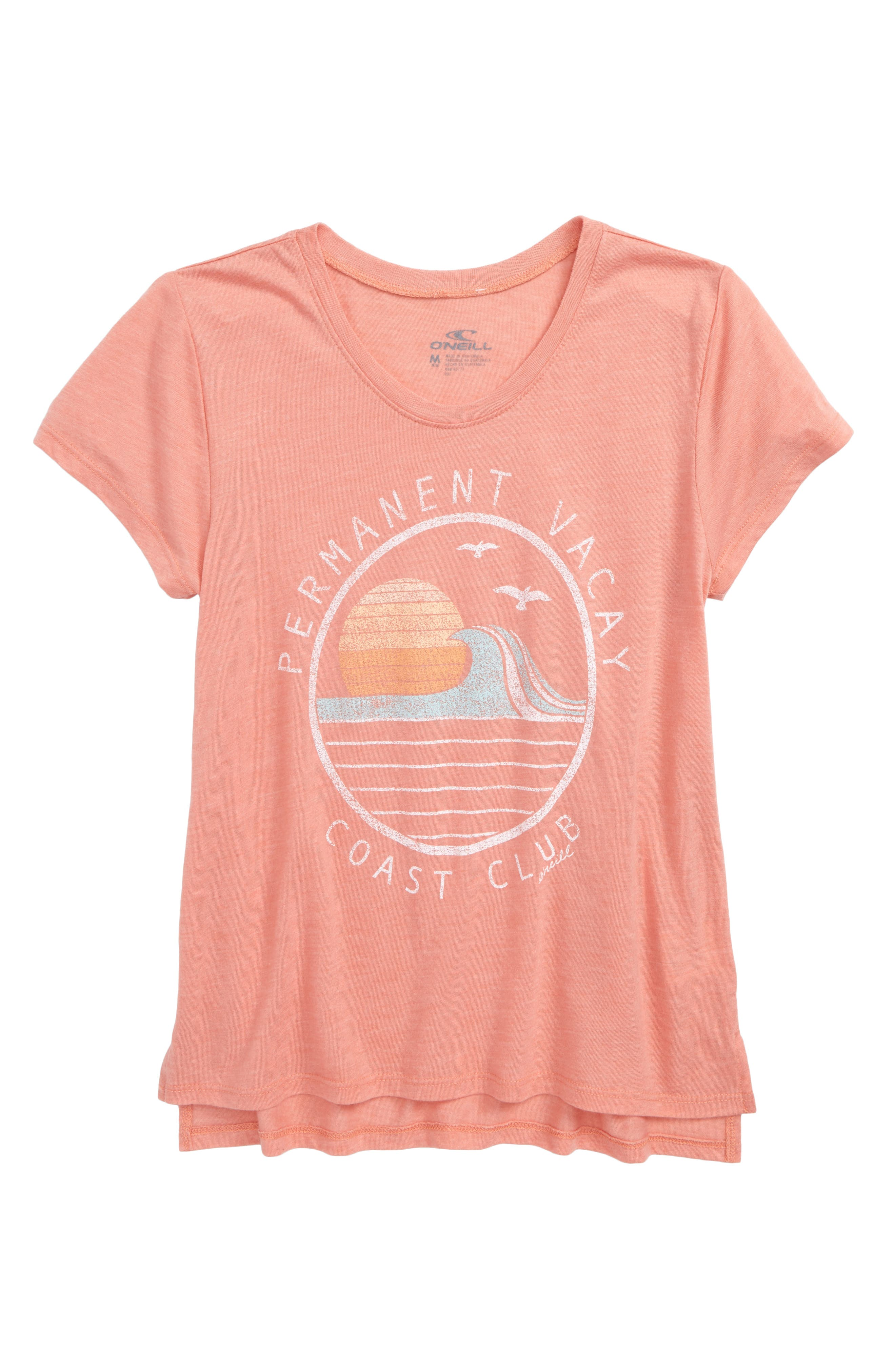 Vacay Club Graphic Tee,                             Main thumbnail 1, color,                             Terracotta- Cla