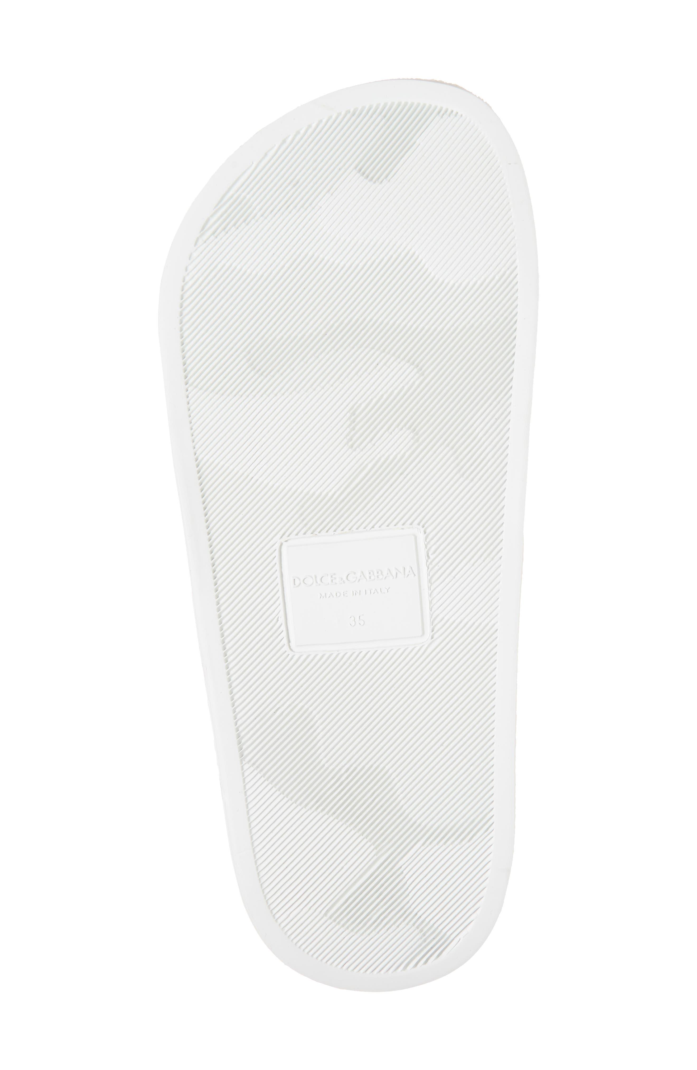 I Love DG Slide Sandal,                             Alternate thumbnail 6, color,                             White