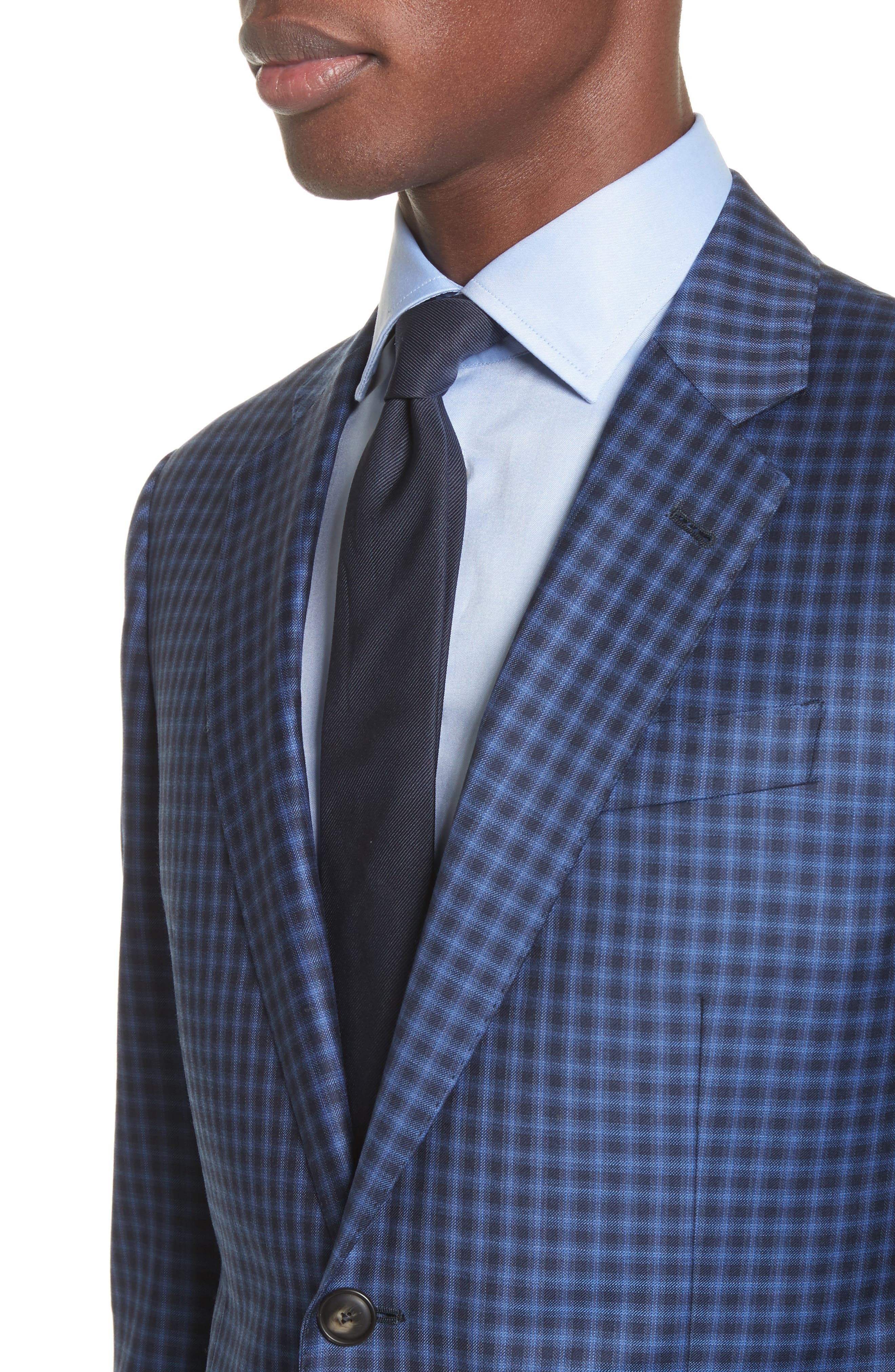 Alternate Image 4  - Emporio Armani G Line Trim Fit Check Wool Sport Coat