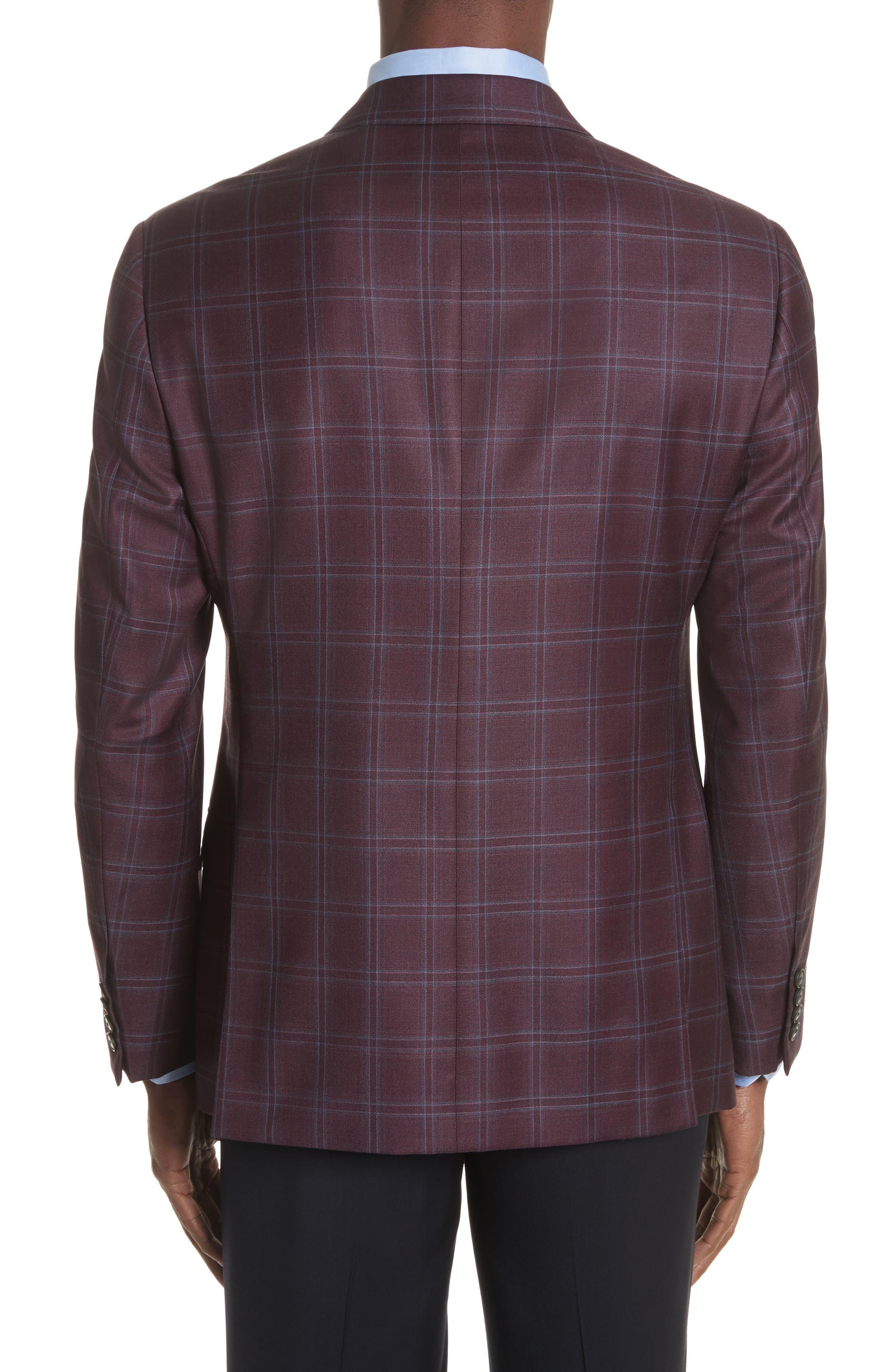 Alternate Image 2  - Emporio Armani G Line Trim Fit Windowpane Wool Sport Coat