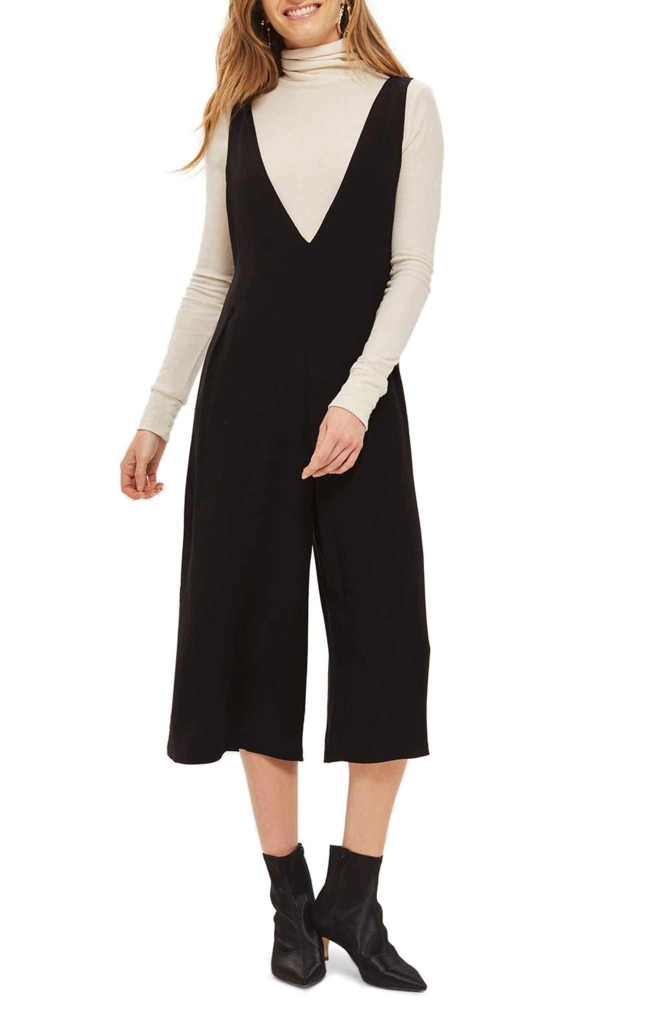 Lace Back Jumpsuit,                             Main thumbnail 1, color,                             Black