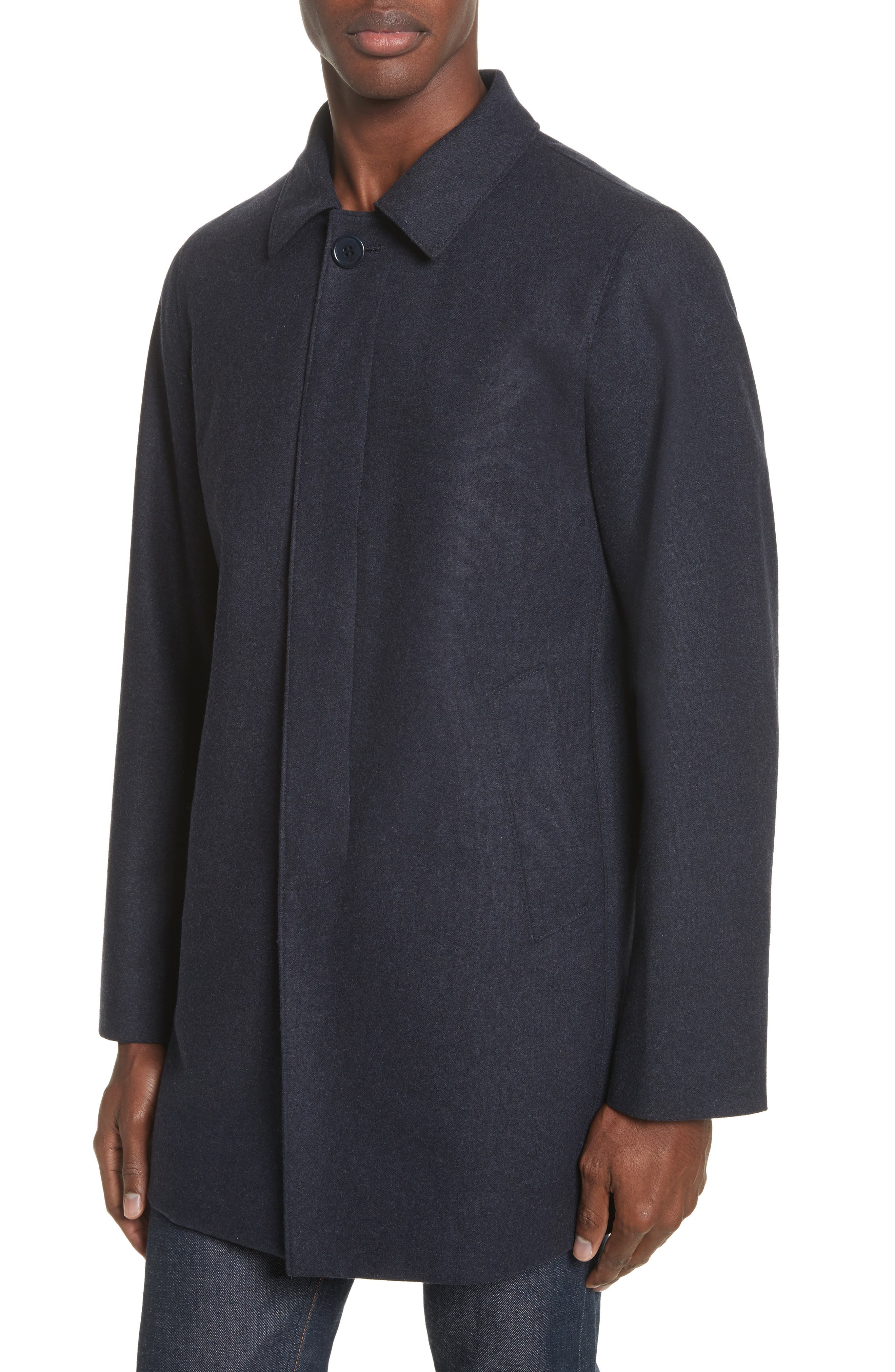 Alternate Image 4  - John Varvatos Star USA Buckley Wool Blend Topcoat