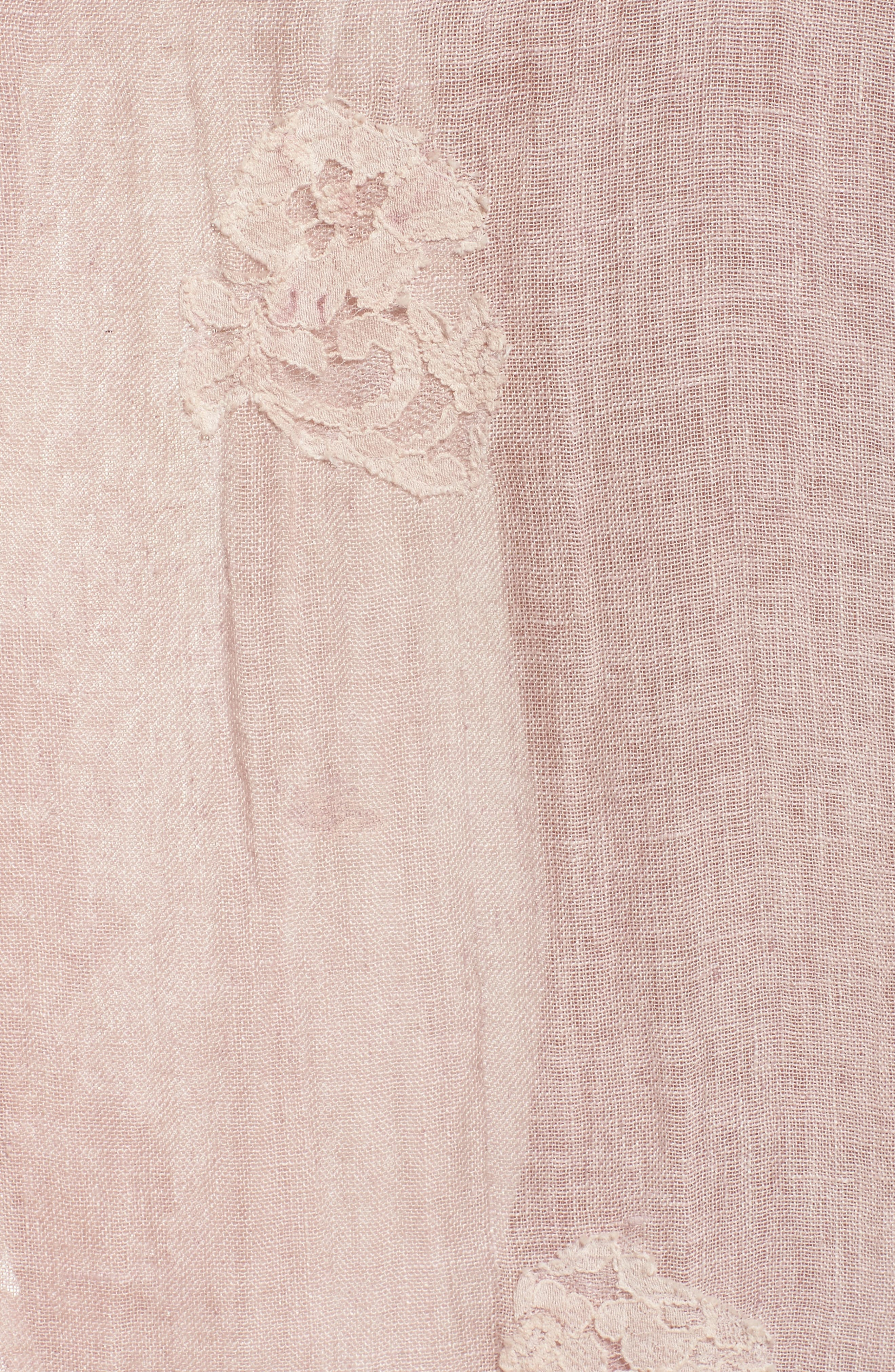 Daisy Linen Cover-Up Dress,                             Alternate thumbnail 5, color,                             Dusty Pink