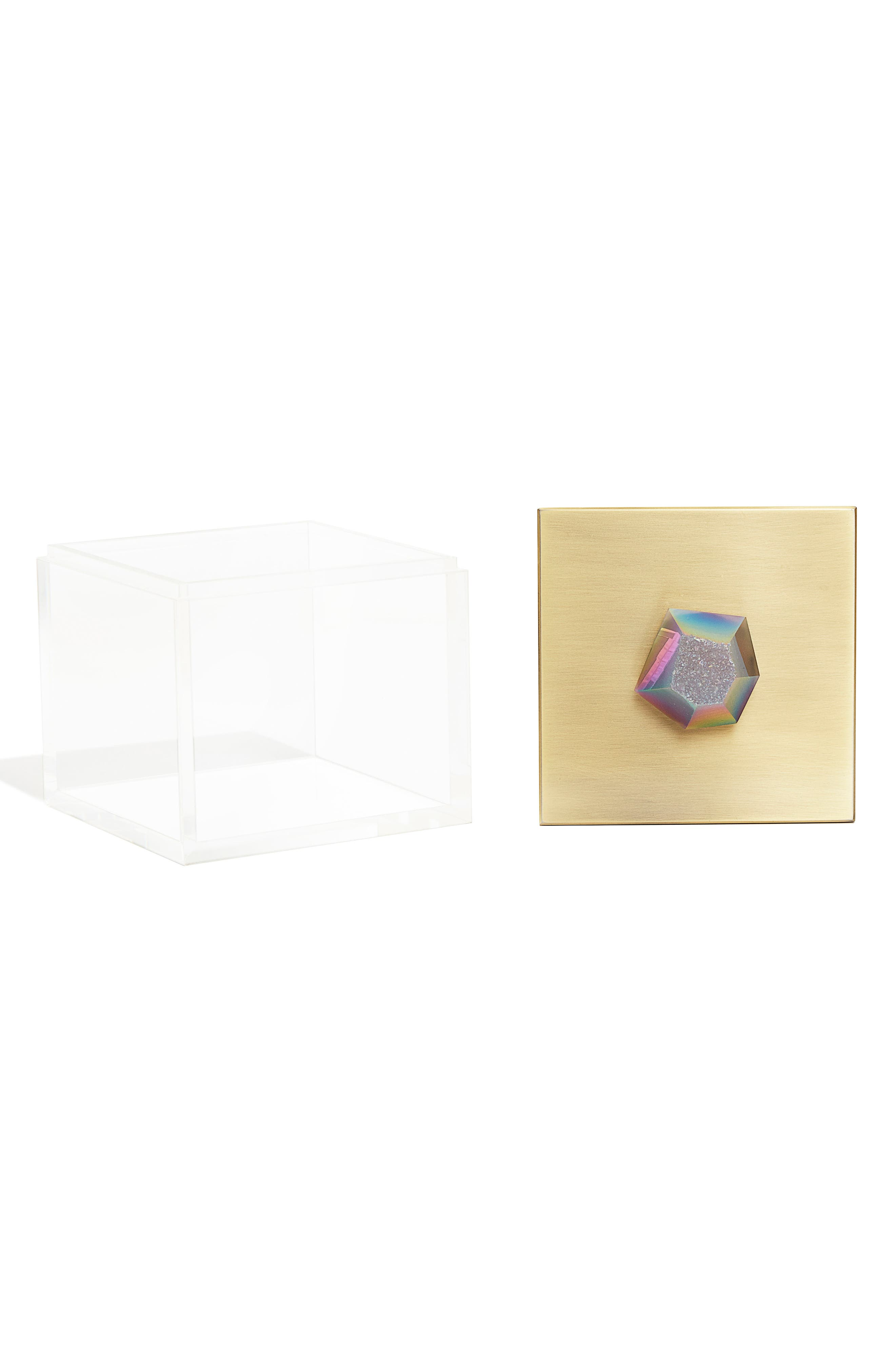 Jewelry Box,                             Alternate thumbnail 2, color,                             Antique Brass