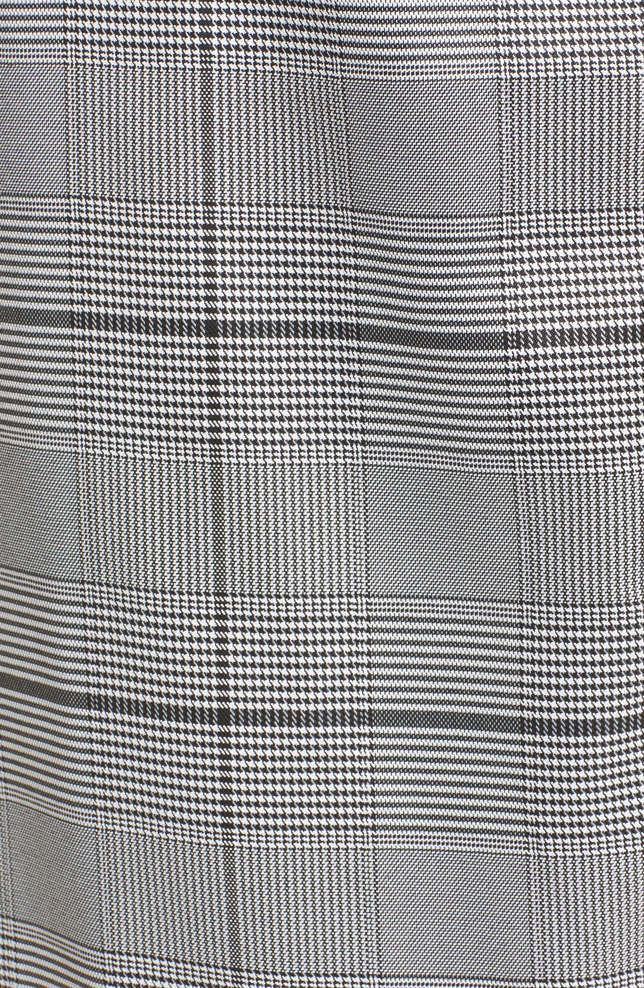 Plaid Menswear Coat,                             Alternate thumbnail 5, color,                             Black Plaid