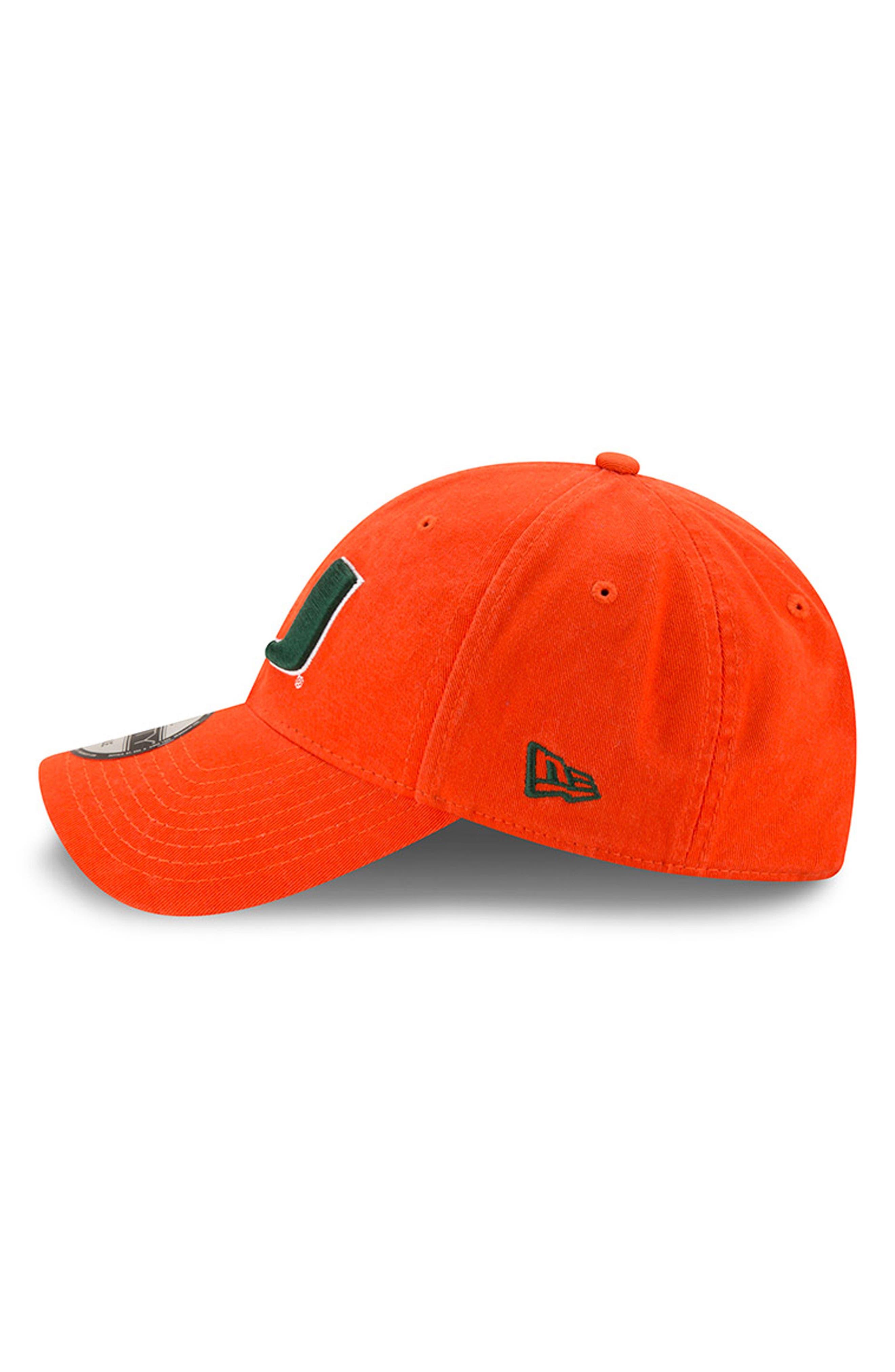 New Era Collegiate Core Classic - Miami Hurricanes Baseball Cap,                             Alternate thumbnail 4, color,                             Miami Hurricanes