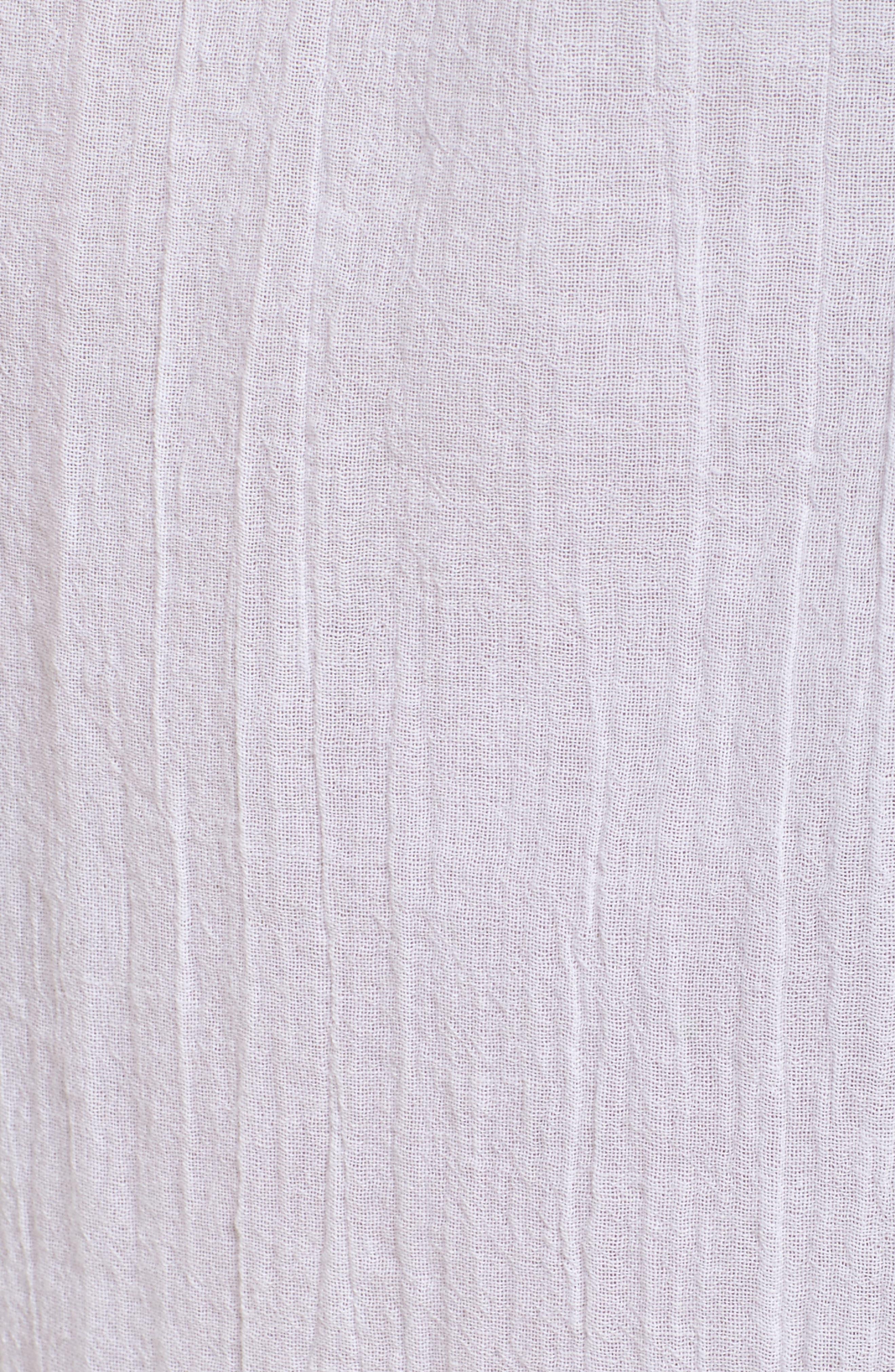 Gauze Robe,                             Alternate thumbnail 6, color,                             White