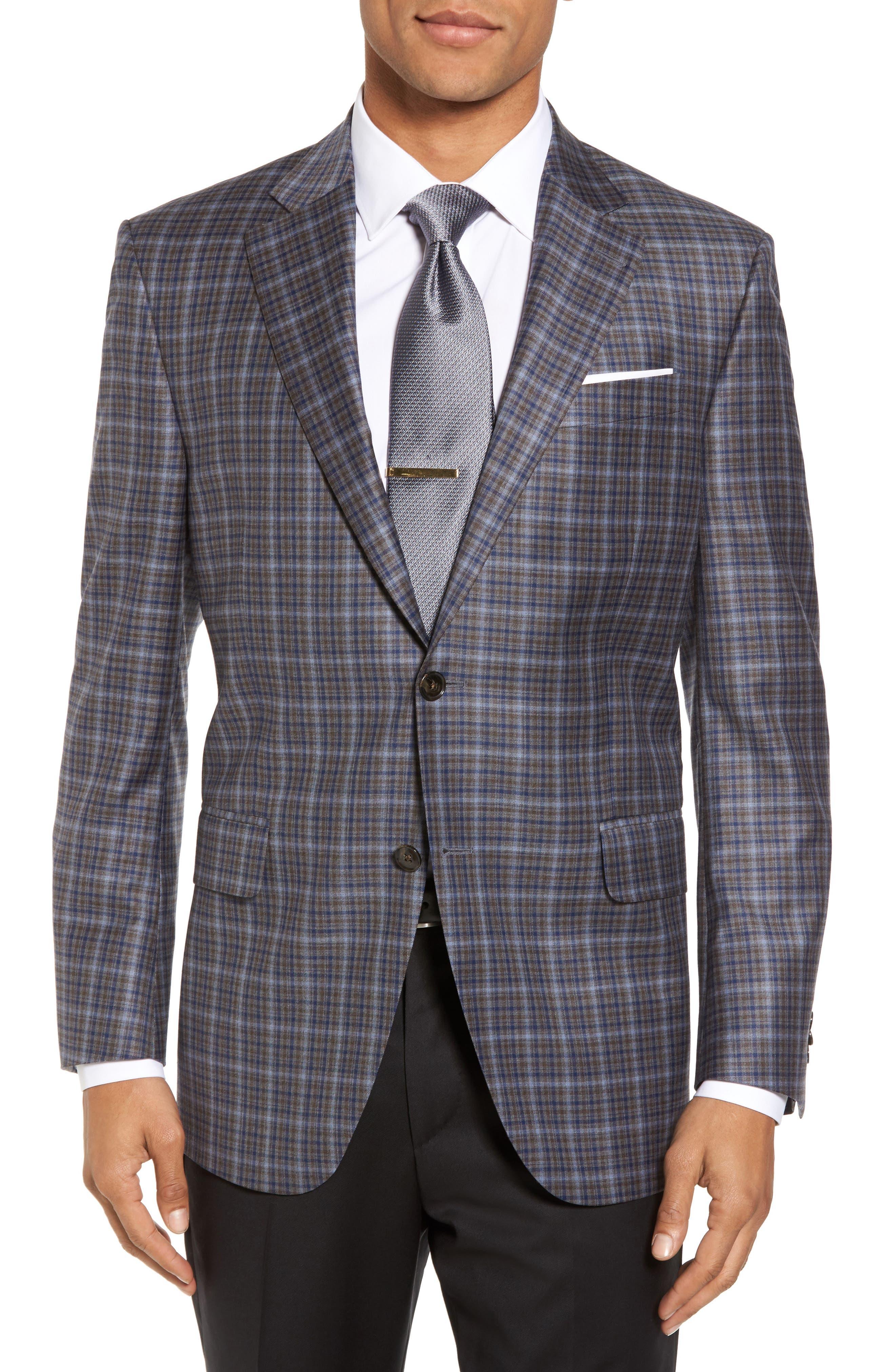 Main Image - Peter Millar Classic Fit Check Wool Sport Coat
