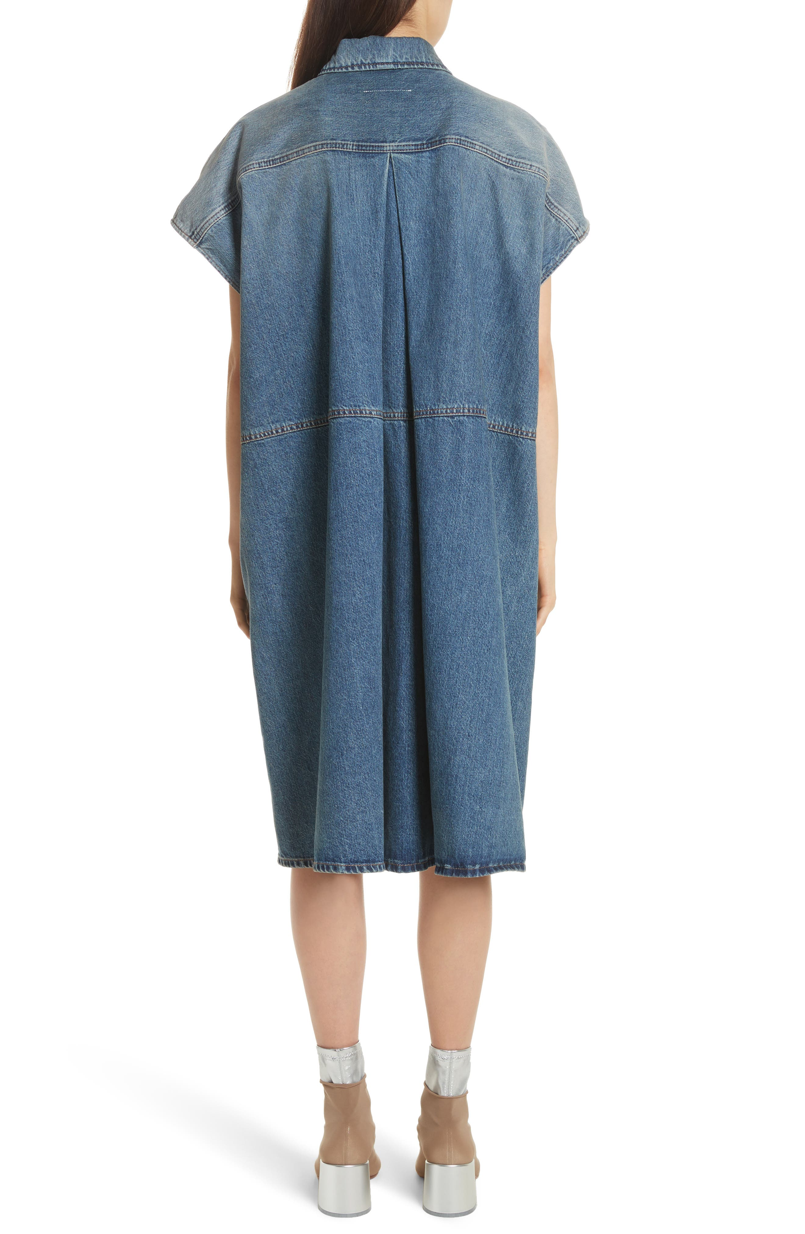 Denim Dress,                             Alternate thumbnail 2, color,                             Indigo Stone Wash