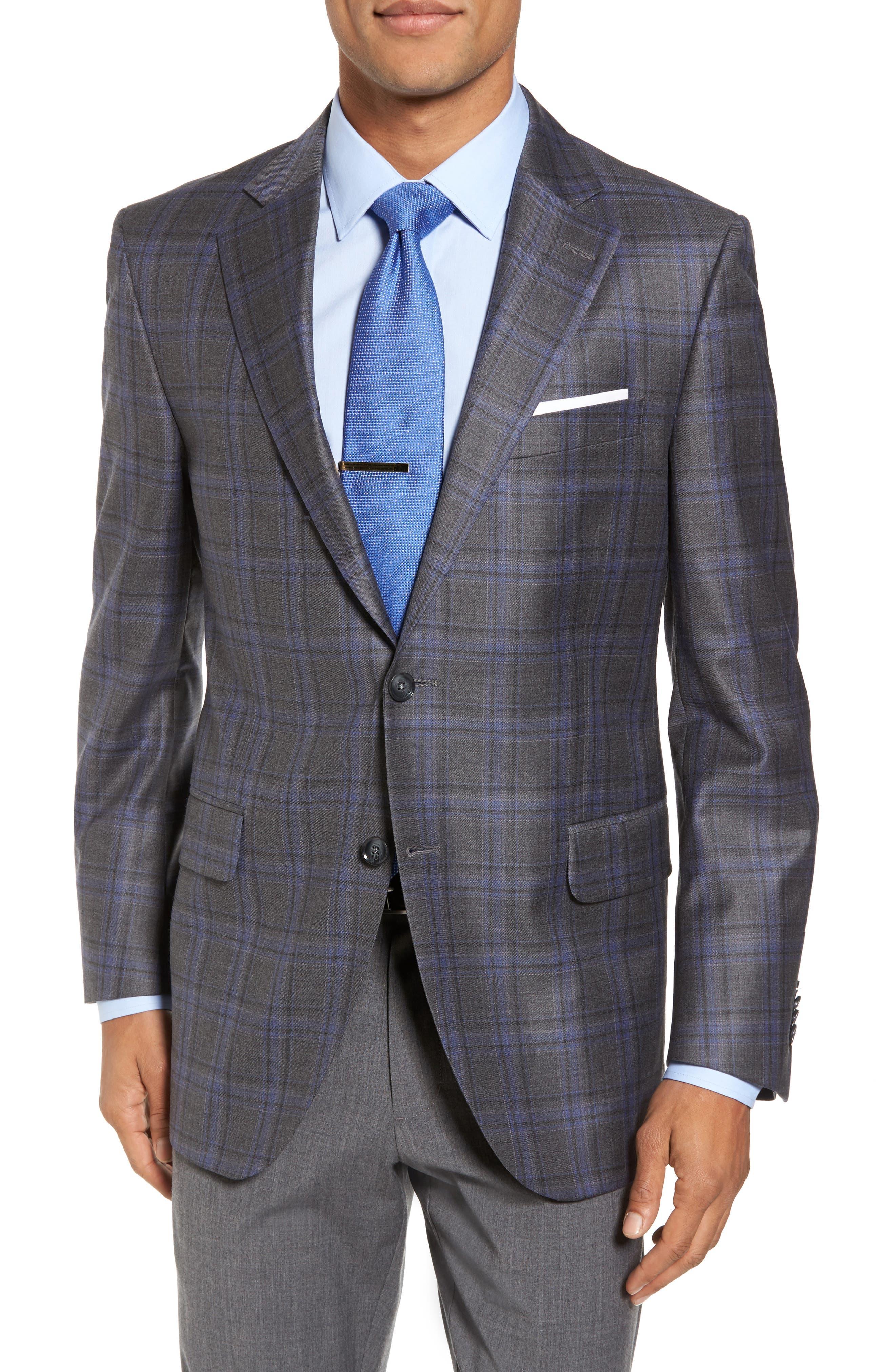 Alternate Image 1 Selected - Peter Millar Classic Fit Plaid Wool Sport Coat