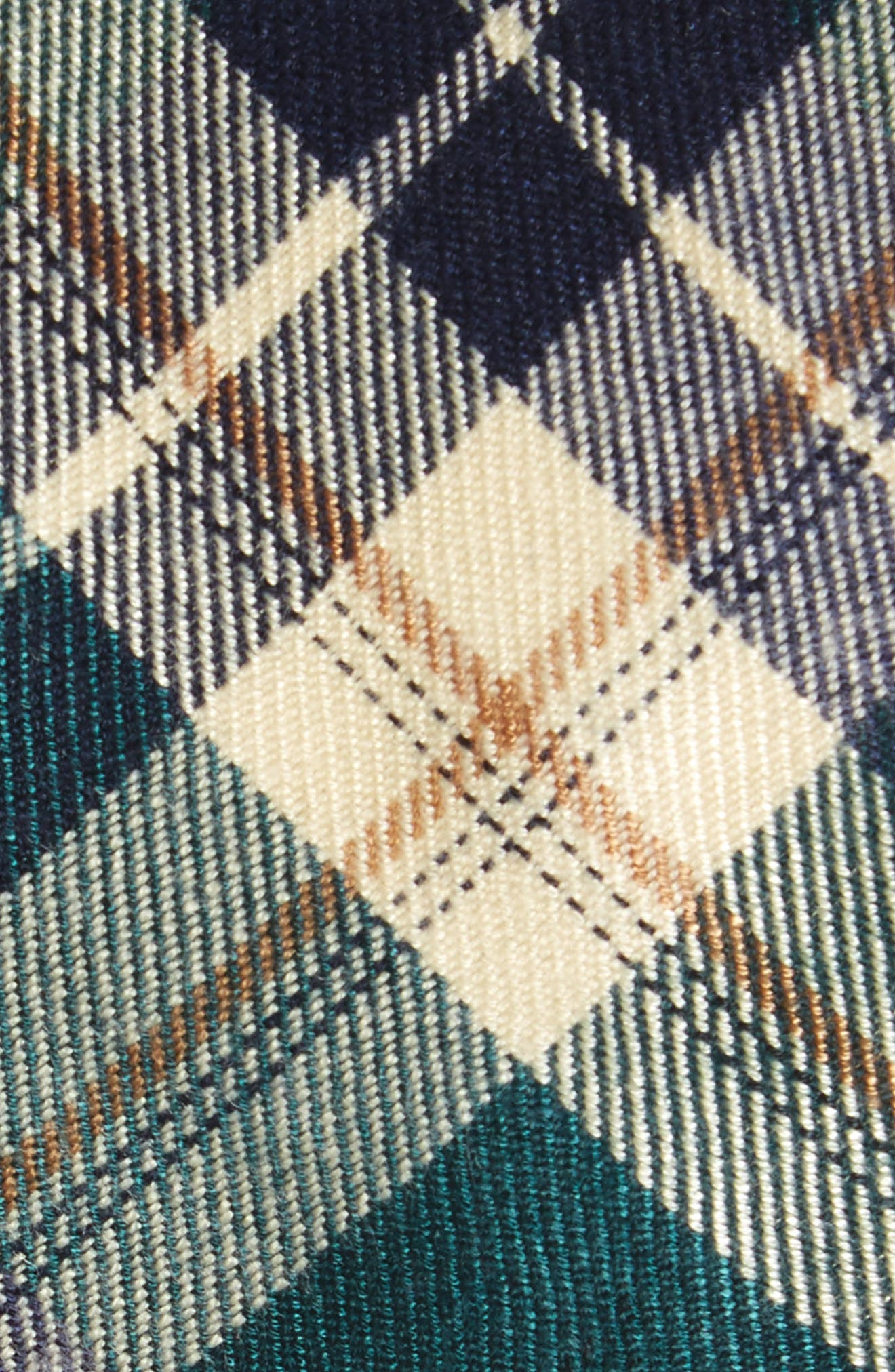 Howerton Plaid Cotton Skinny Tie,                             Alternate thumbnail 2, color,                             Green