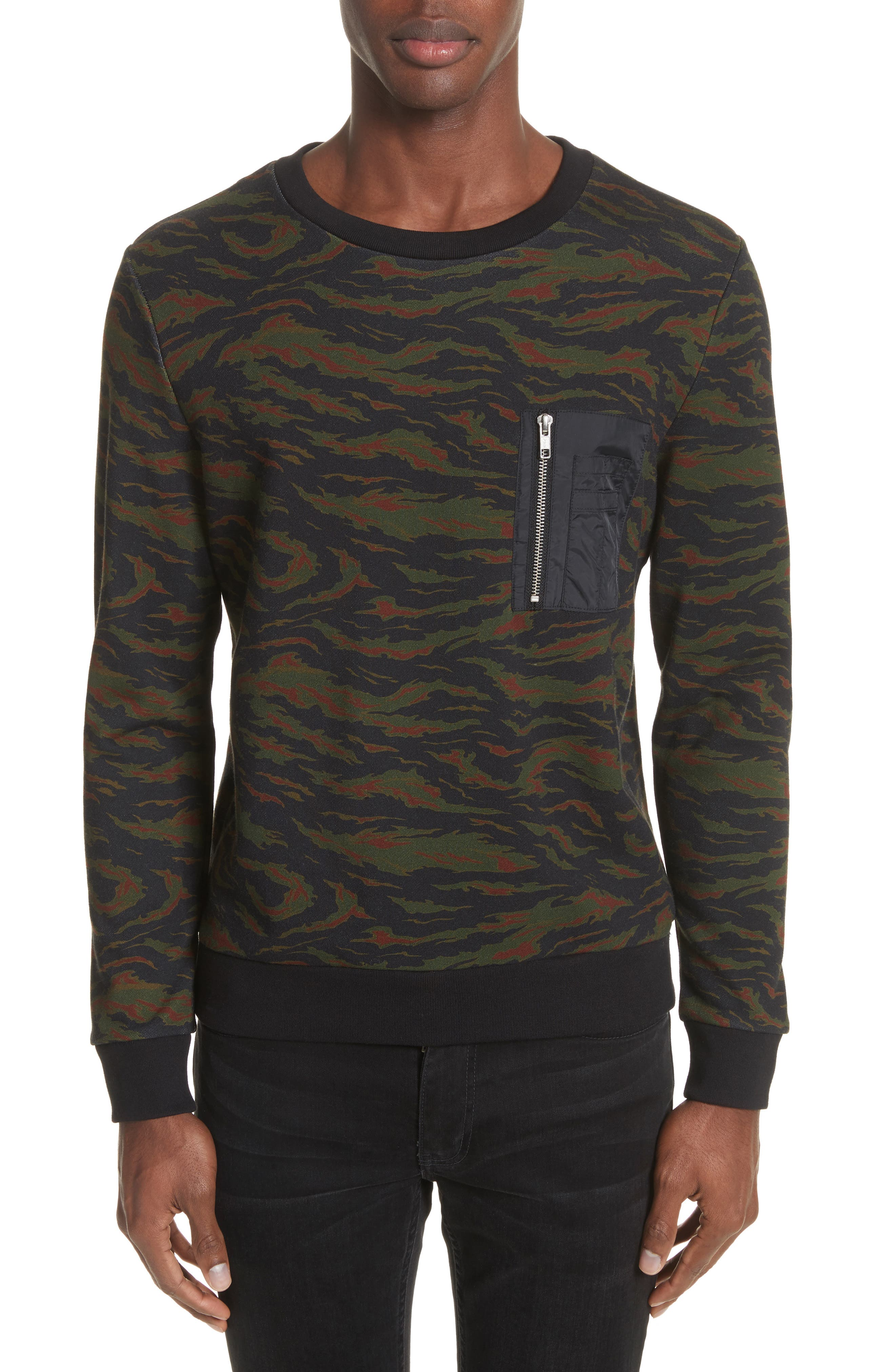 Camo Sweater,                             Main thumbnail 1, color,                             Khaki
