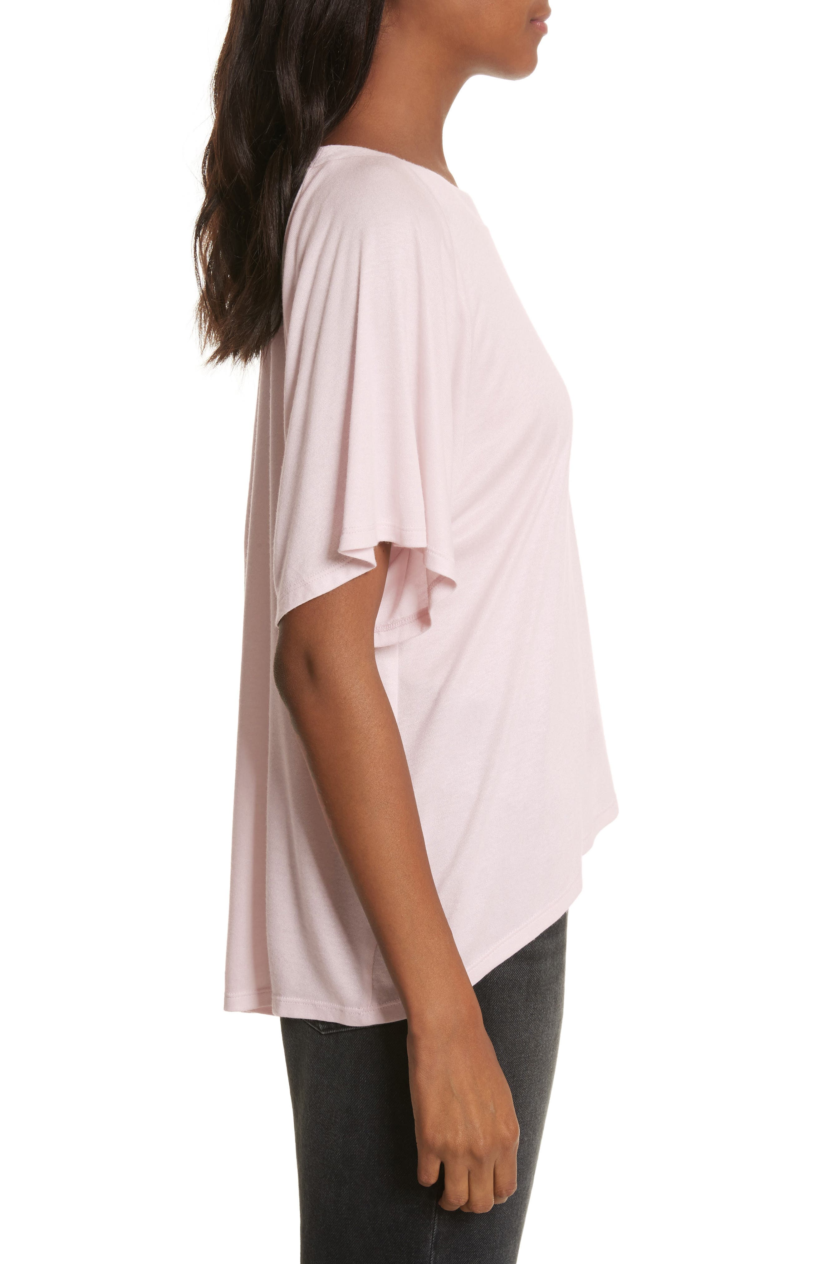 Willow Shine Jersey One-Shoulder Top,                             Alternate thumbnail 3, color,                             Pale Pink