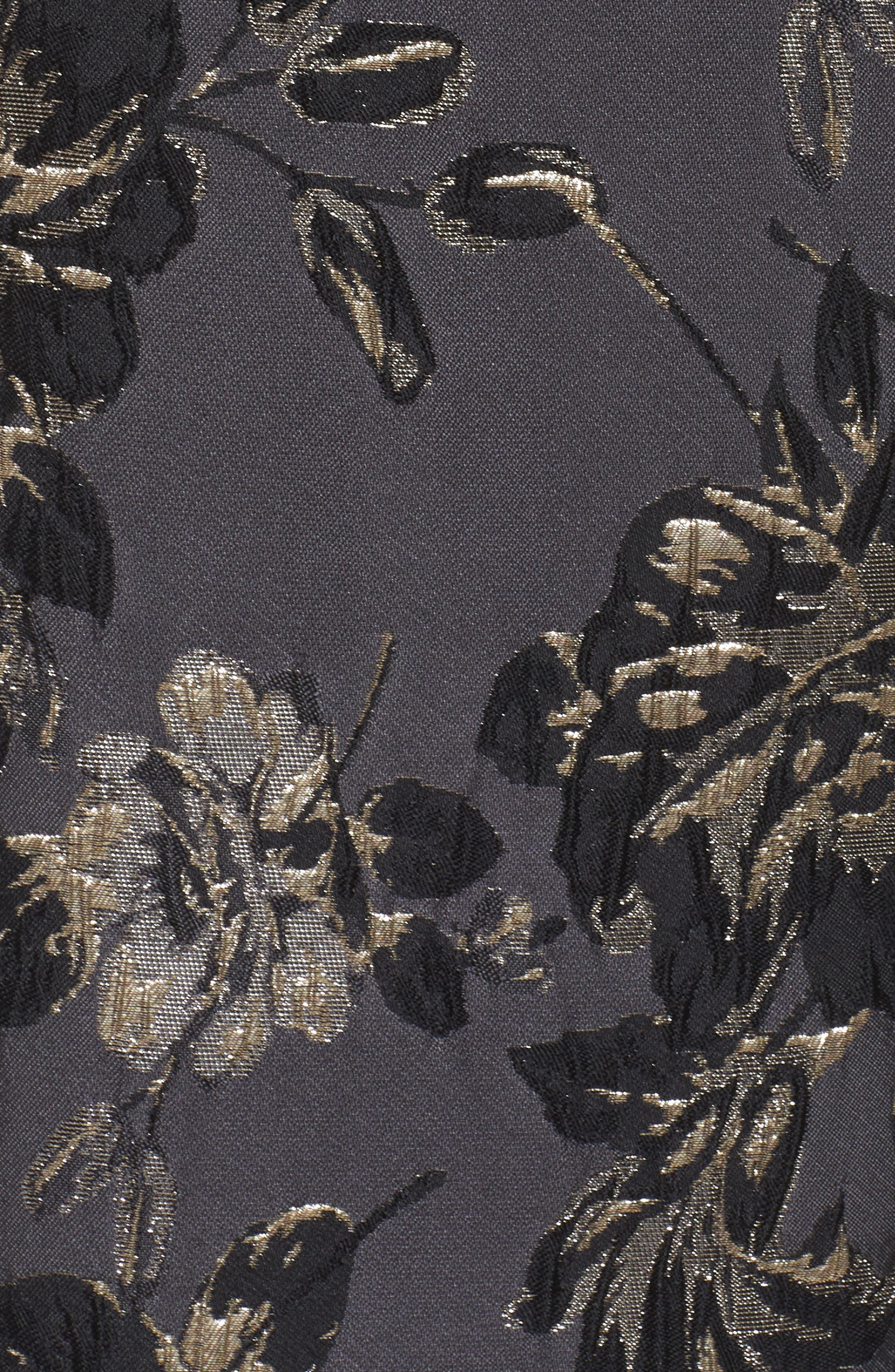 Jessa Fit & Flare Dress,                             Alternate thumbnail 5, color,                             Black Multi