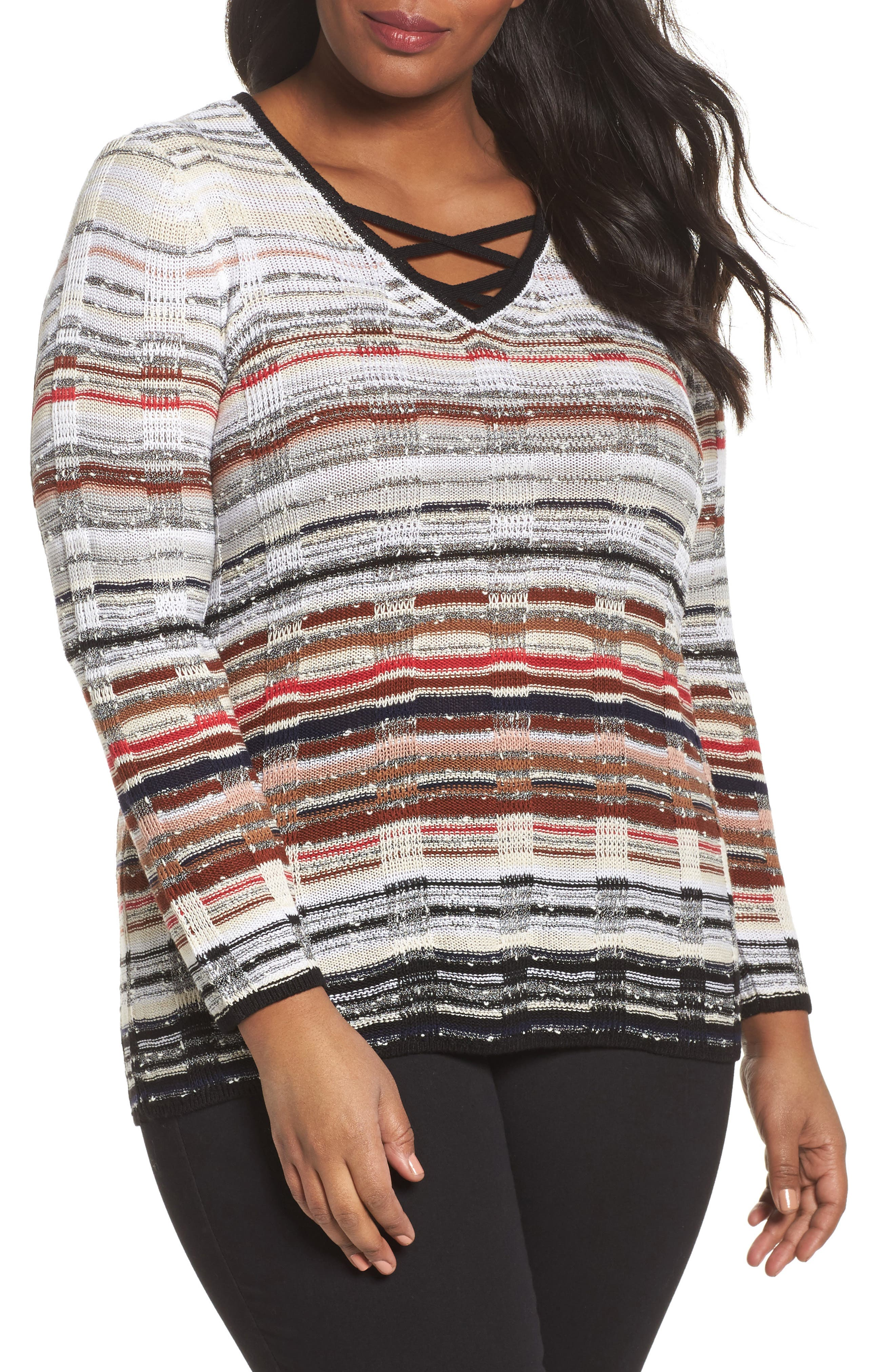 NIC+ZOE Red Hills Sweater (Plus Size)