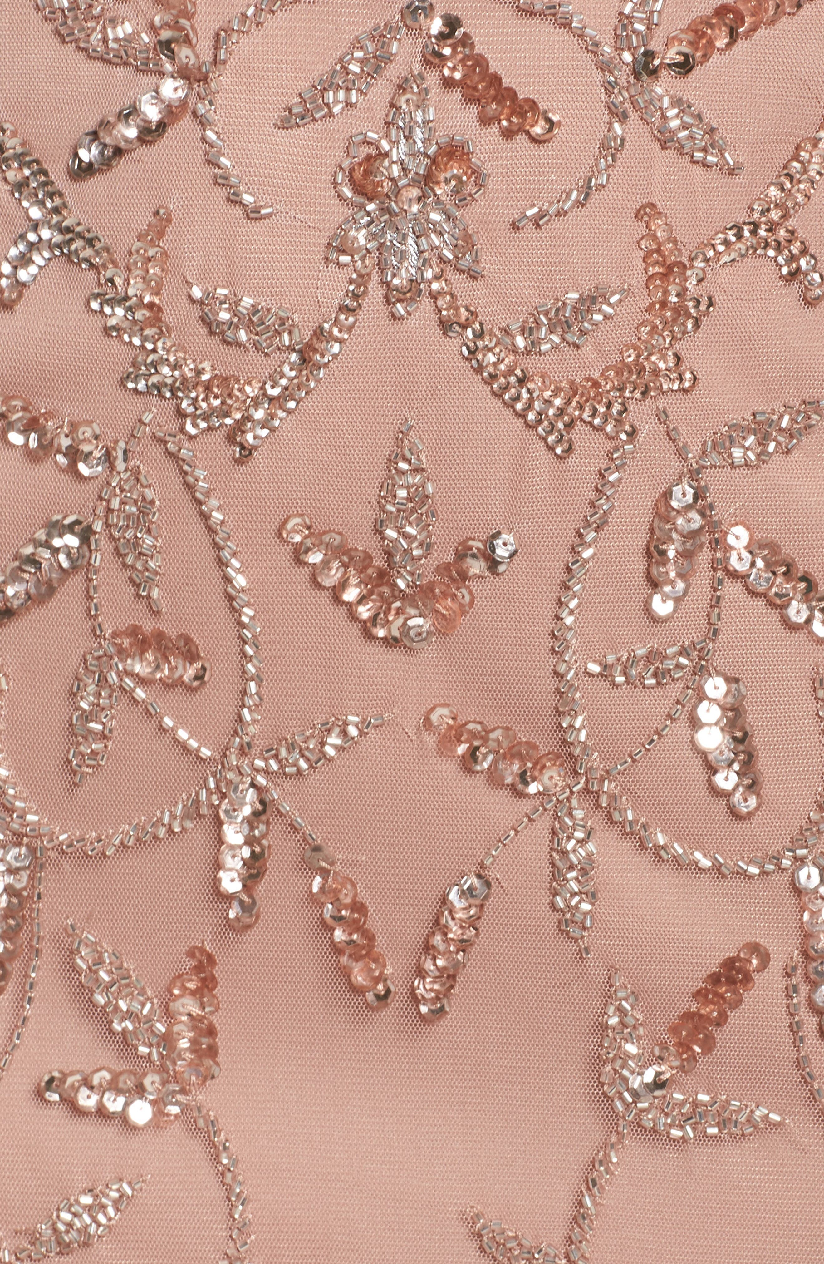 Beaded A-Line Gown,                             Alternate thumbnail 5, color,                             Rose Gold