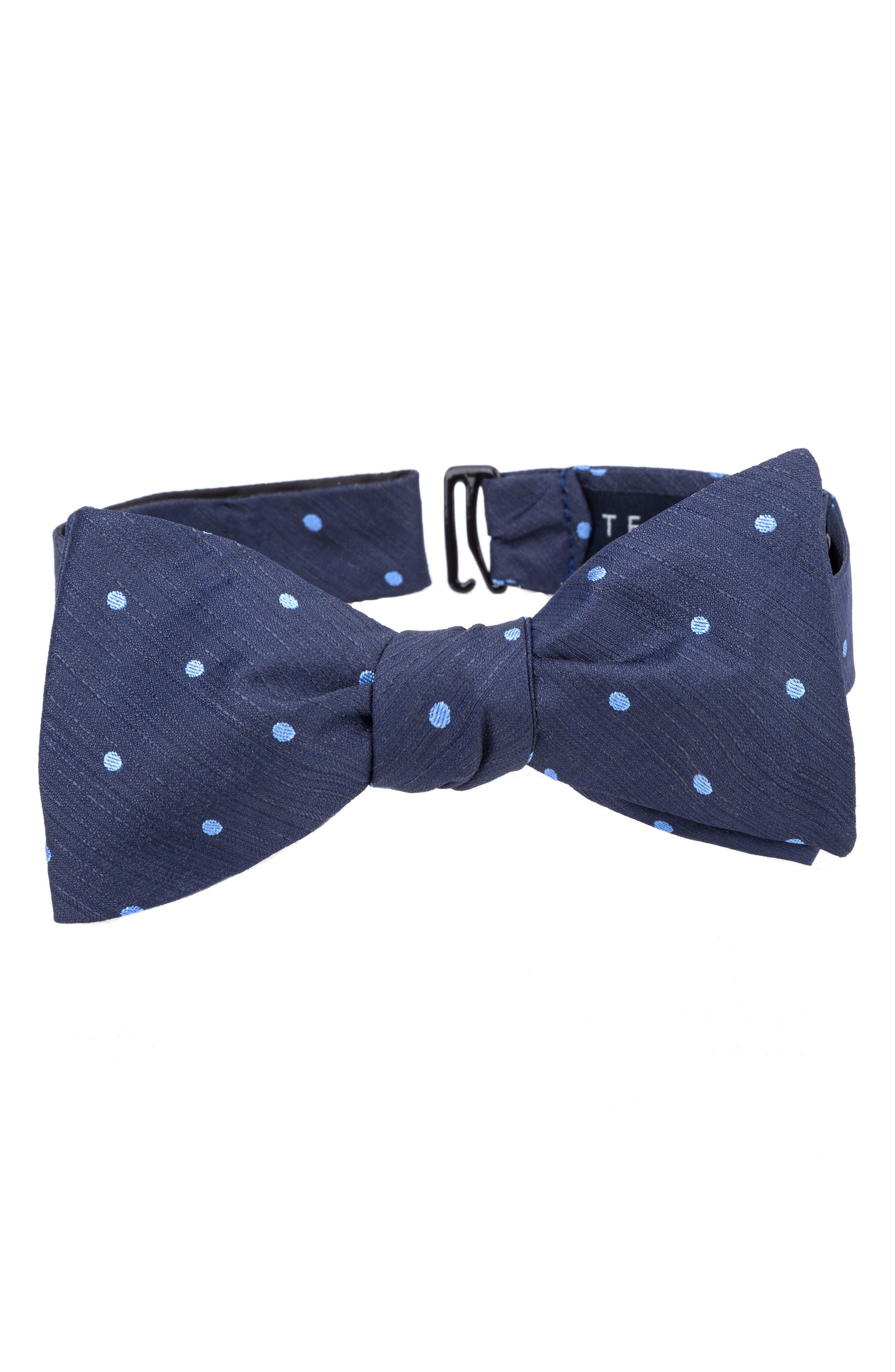 Grand Dot Silk Bow Tie,                         Main,                         color, Charcoal