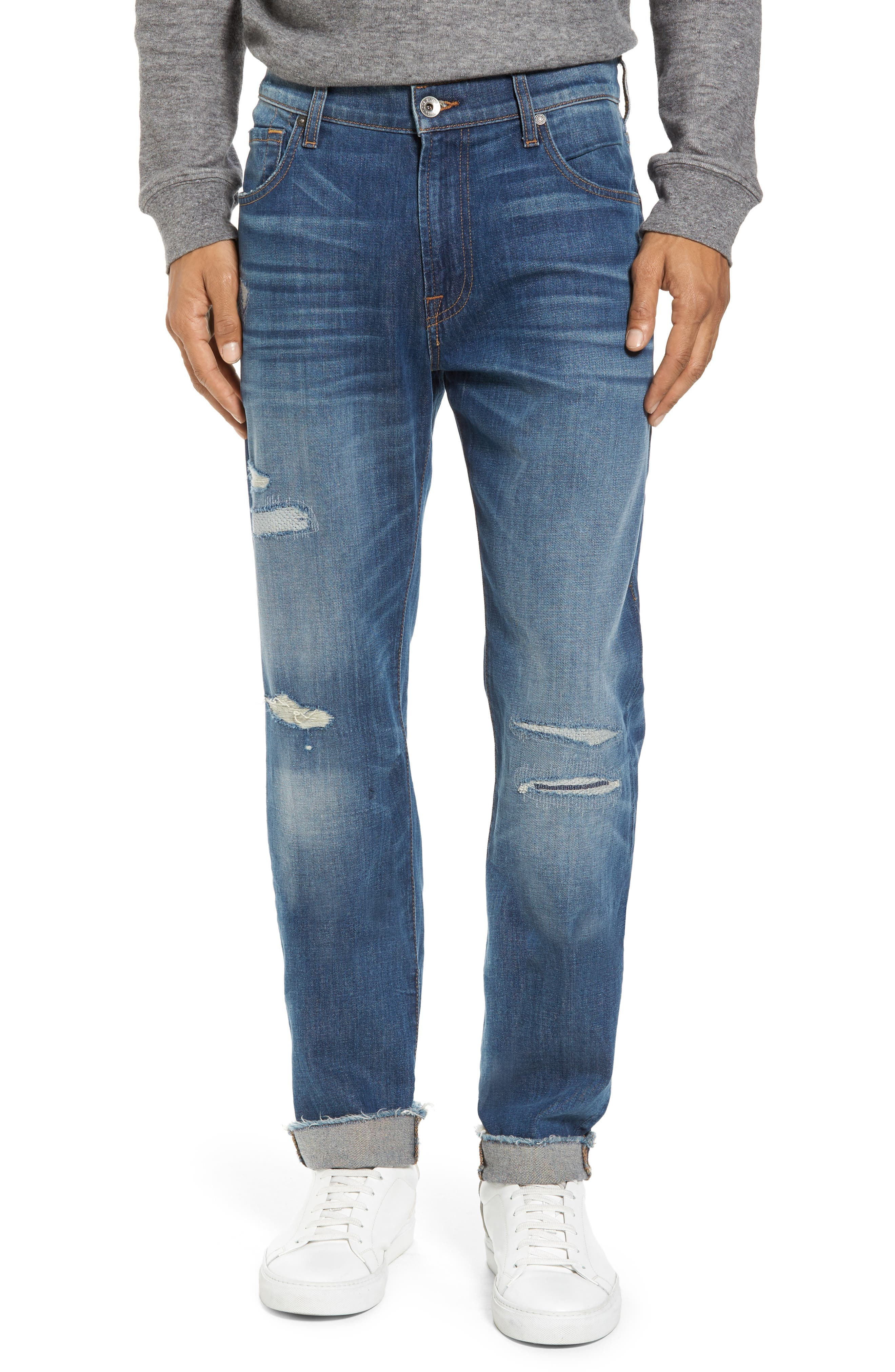 Alternate Image 1 Selected - 7 For All Mankind® Adrien Slim Fit Jeans (Walk Out)